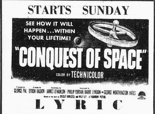 This ad ran in the March 17, 1955 Lancaster Eagle-Gazette.
