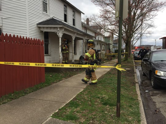 A house fire happened at 232 Washington Avenue in Lancaster April 5, 2019.