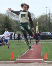 Howell's Josh Brown was one inch short of qualifying for the state meet in the long jump last year.
