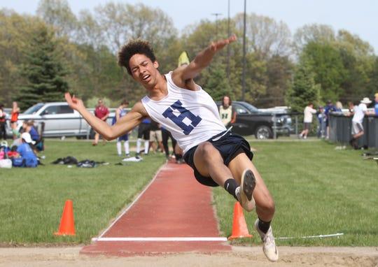 Hartland's Isaac Elmore long jumped 20 feet, 10.5 inches as a freshman.