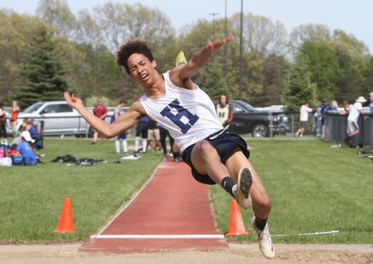 Hartland's Isaac Elmore long jumped 20 feet, 10.5 inches as a freshman.