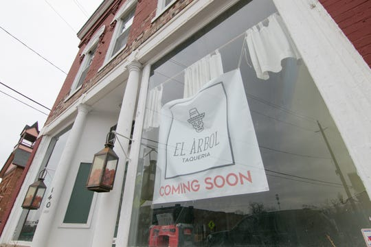 In the downtown Brighton building that was formerly the Yum Yum Tree, construction is underway for the soon-to-open El Àrbol, shown Friday, April 5, 2019. Plans changed to expand the eatery into the second story.