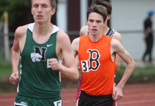 Brighton's Zach Stewart (3) qualified for the state meet in the 3,200 last year.