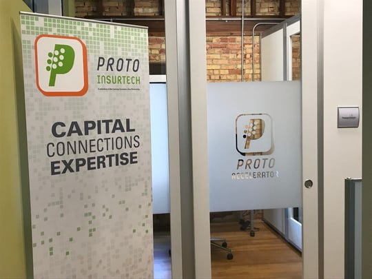The PROTO InsurTech workspace at LEAP's office.
