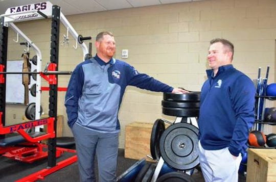 Will Hudgens (left) is the new athletic director at St. Benedict. Brandon Patton (right) will serve as assistant AD