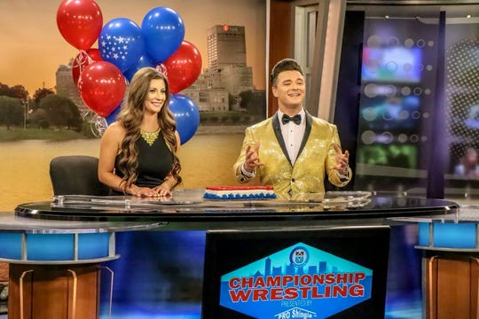 Maria and Dustin Starr are the husband-and-wife team behind the newest incarnation of weekly televised independent wrestling in Memphis. This is their typical CW-30 studio.