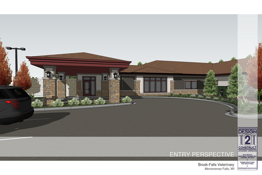The Luxury Pet Resort and Doggy Daycare facilities will be an attachment to the Brook-Falls Veterinary Hospital in Menomonee Falls. It will be over 12,000 square feet.