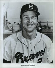 Milwaukee Braves infielder Frank Bolling