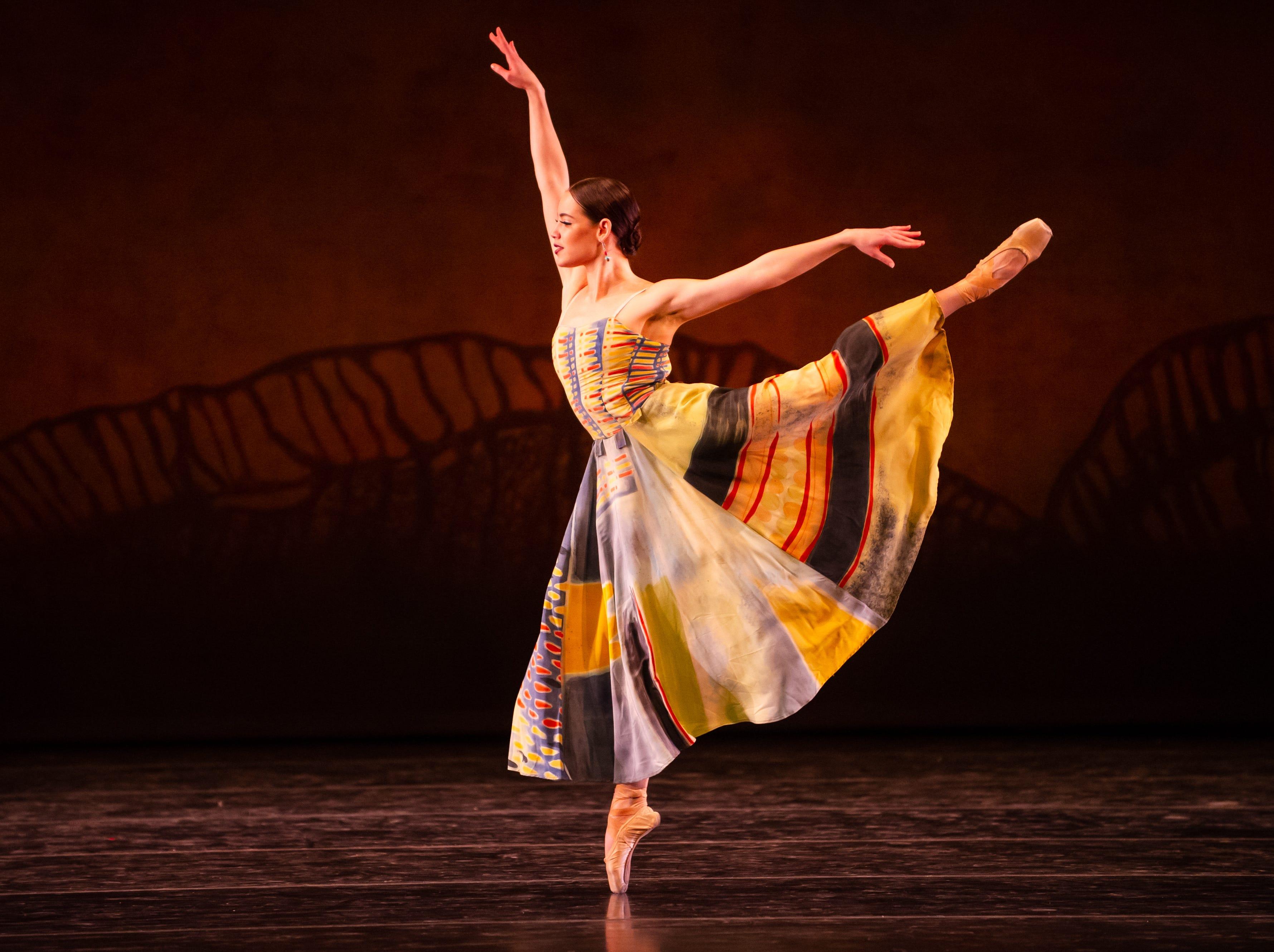 """Itzel Hernandez dances in Milwaukee Ballet's production of """"Lambarena."""""""