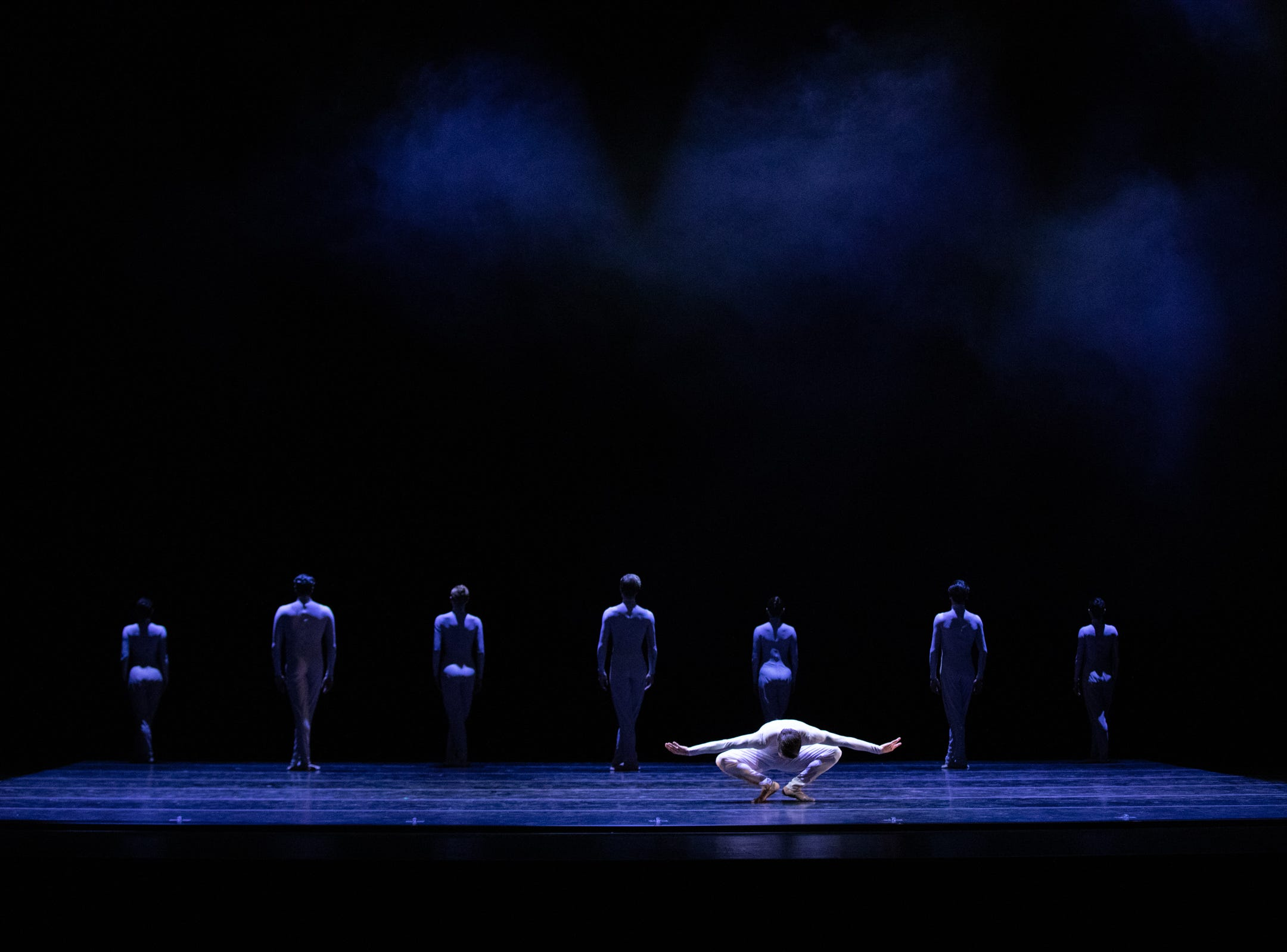 "Barry Molina dances in Milwaukee Ballet's production of George Williamson's ""Albatross."""