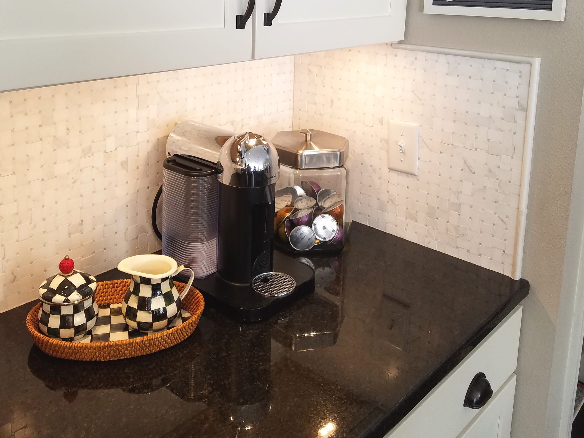 Sarah Timmer put her counter space to work for her by designating a coffee station with all of the coffee accoutrements close at hand.