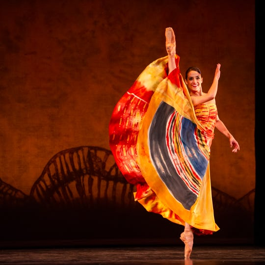"Marize Fumero dances in Milwaukee Ballet's production of ""Lambarena."""