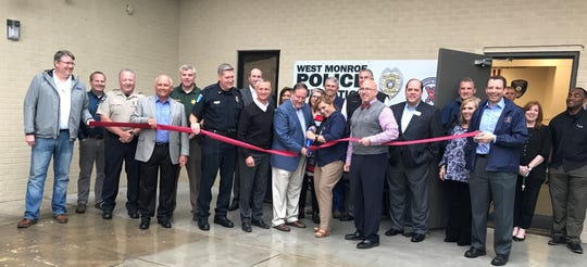 The community gathered Thursday to celebrate the opening of a new West Monroe Police Department Substation on the campus of West Monroe High School.