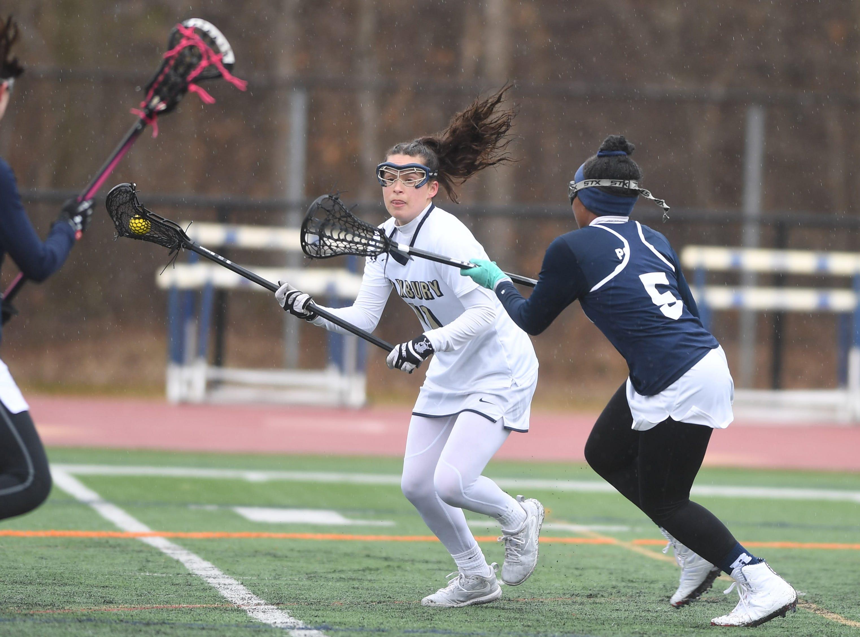 Randolph girls lacrosse at Roxbury on Friday, April 5, 2019. Roxbury  #11 Melissa Murphy.