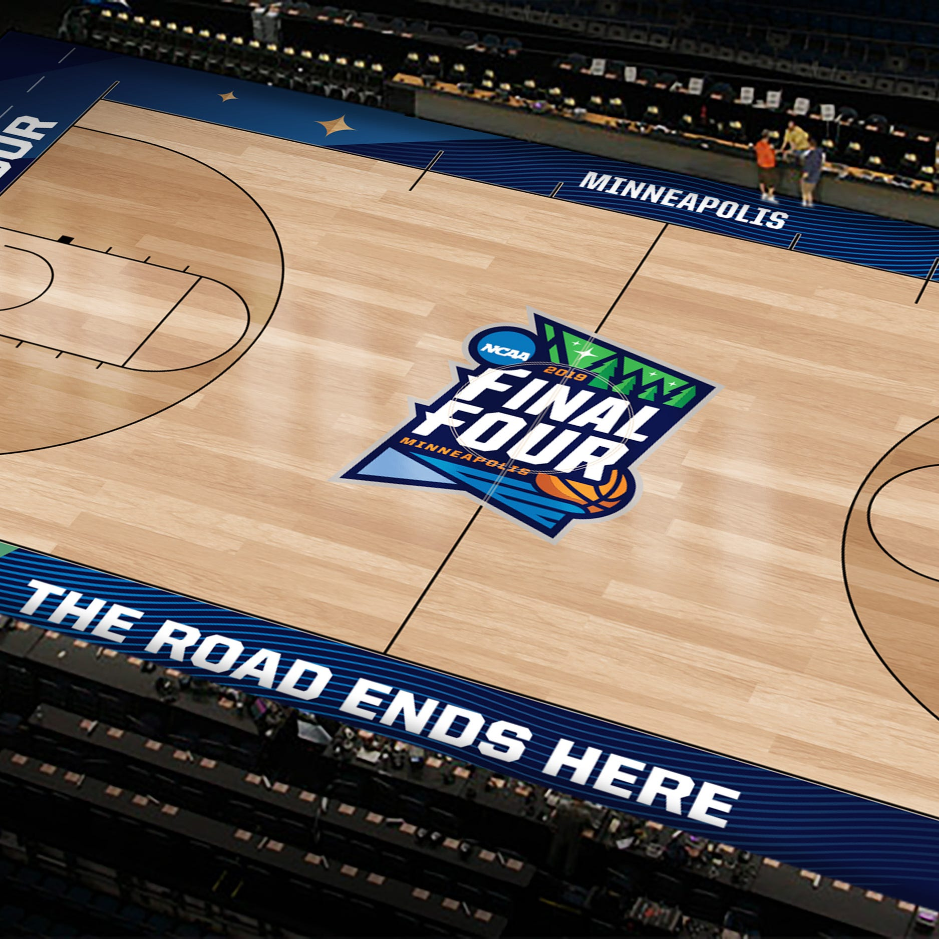 How two Ball State alums designed the Final Four court and logo