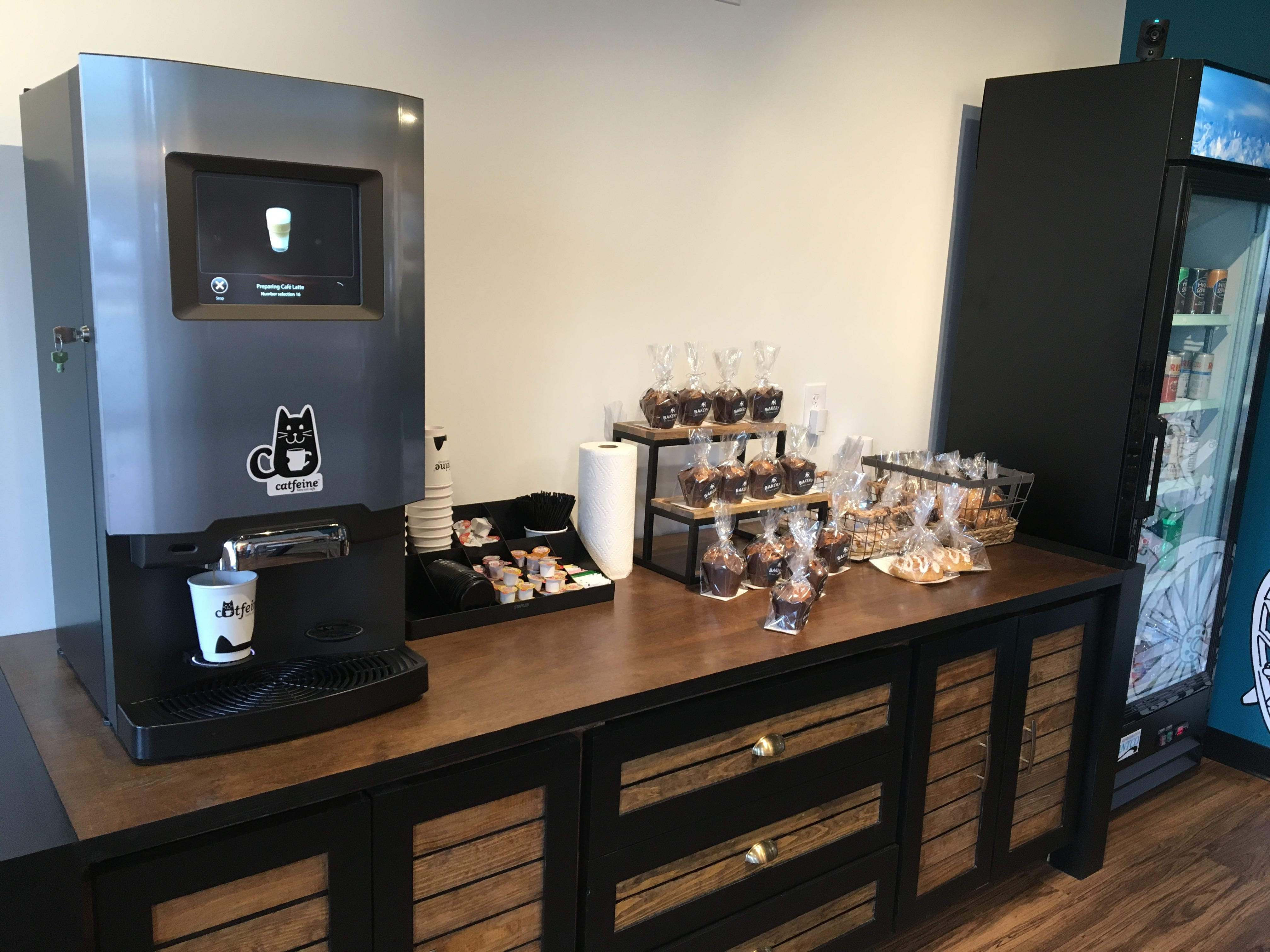 Specialty coffees are self-serve and there are pastries, snacks and cold beverages available at Catfeine Cat Cafe in Murfreesboro.