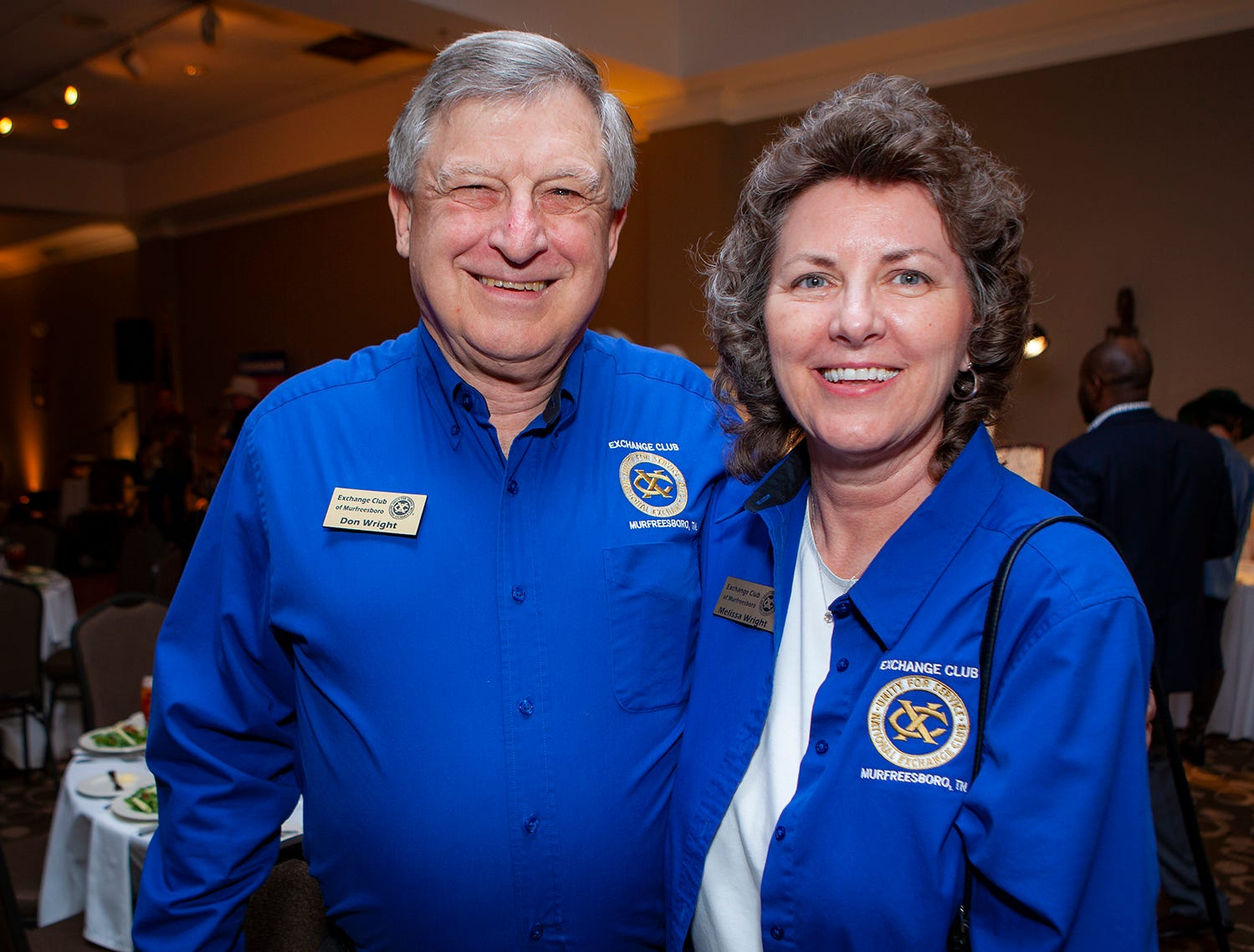Don and Melissa Wright at the Exchange Club Celebrity Waiter lunch.