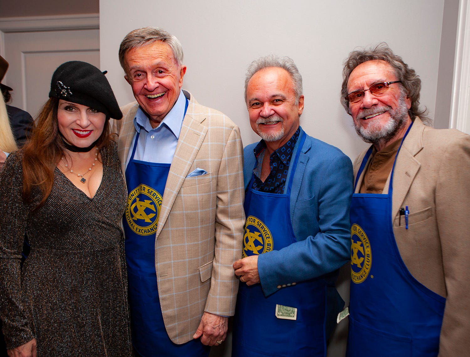 "Deborah Allen, ""Whispering Bill"" Anderson, Jimmy Fortune and David Frizzell at the Exchange Club Celebrity Waiter lunch."