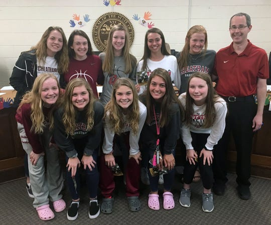 The Cheatham County School Board recognized the Cheatham County Central High School girls basketball team at its April 4 meeting for winning the TSSAA Class AA State Basketball Championship in March, making history for the school.