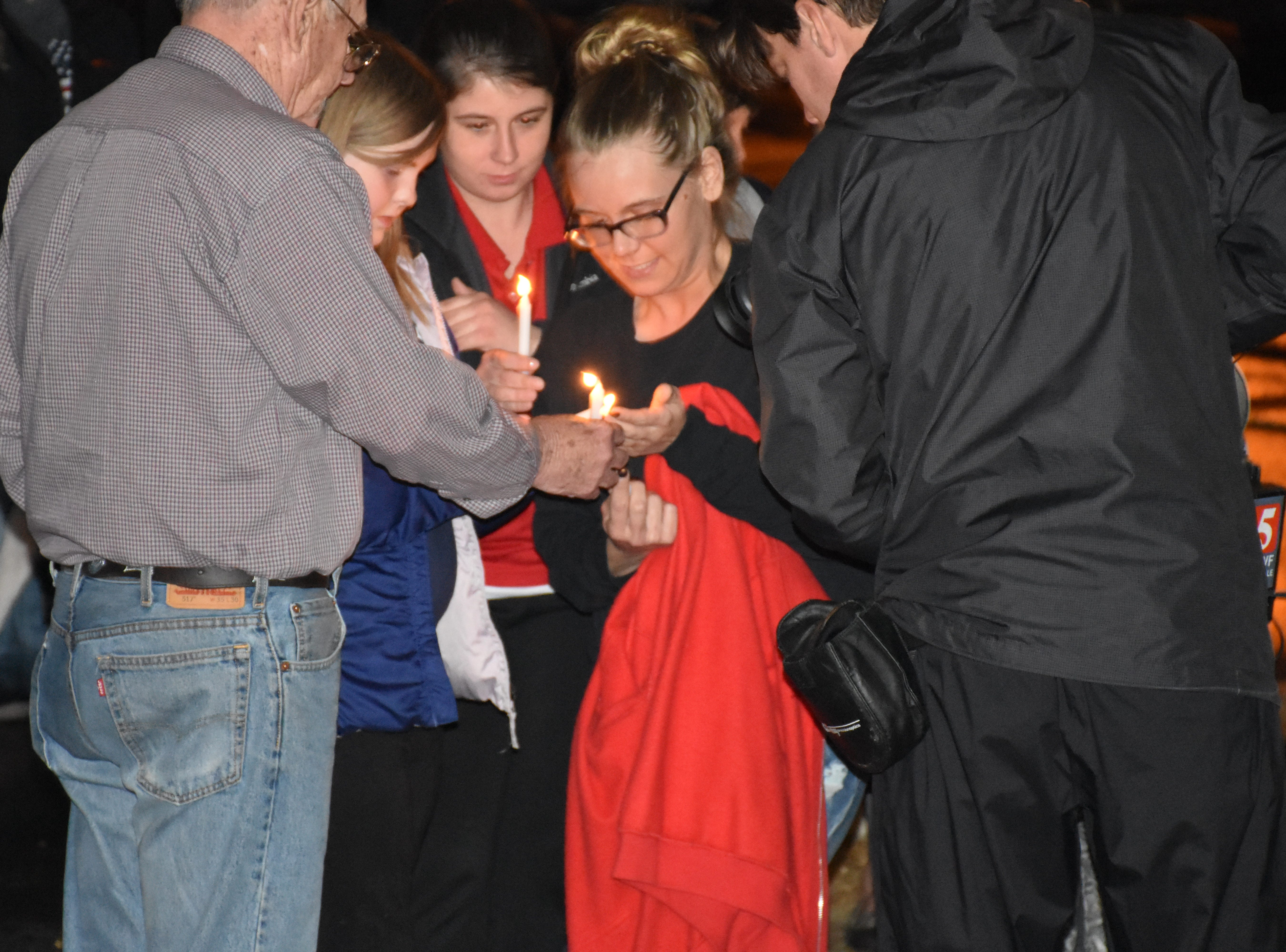 Images from the one year vigil remembering the day Joe Clyde Daniels was reported missing in Dickson County. Joe Clyde's father confessed to the murder, investigators say.