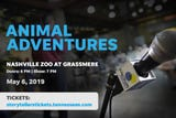Nashville Storyteller, water adventurer John Guider once met two water moccasins on the Harpeth River. Hear more animal adventures on May 6 at the zoo.