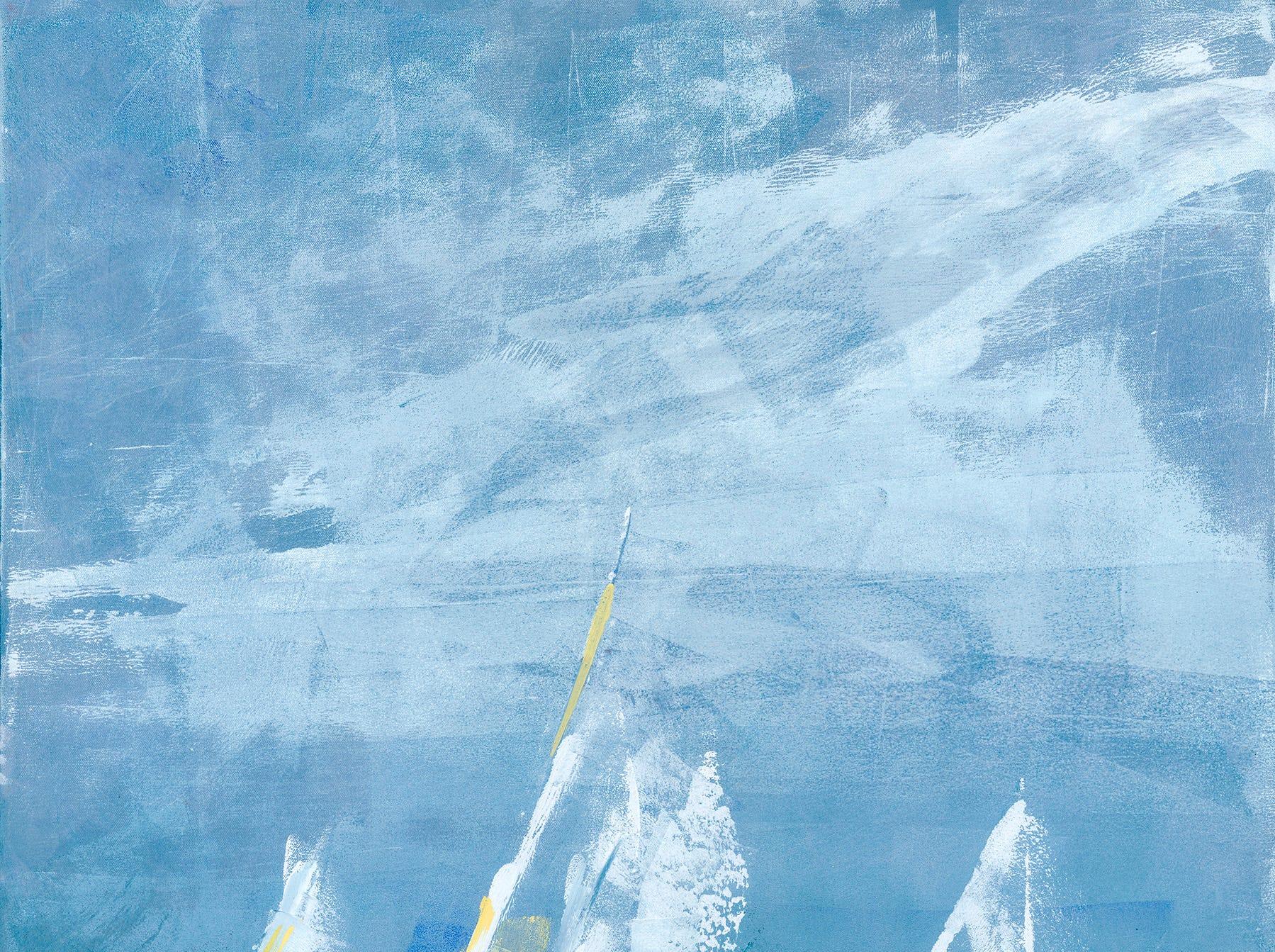 """Racing Home,"" acrylic; Amy Moglia Heuermann for Art Aid"