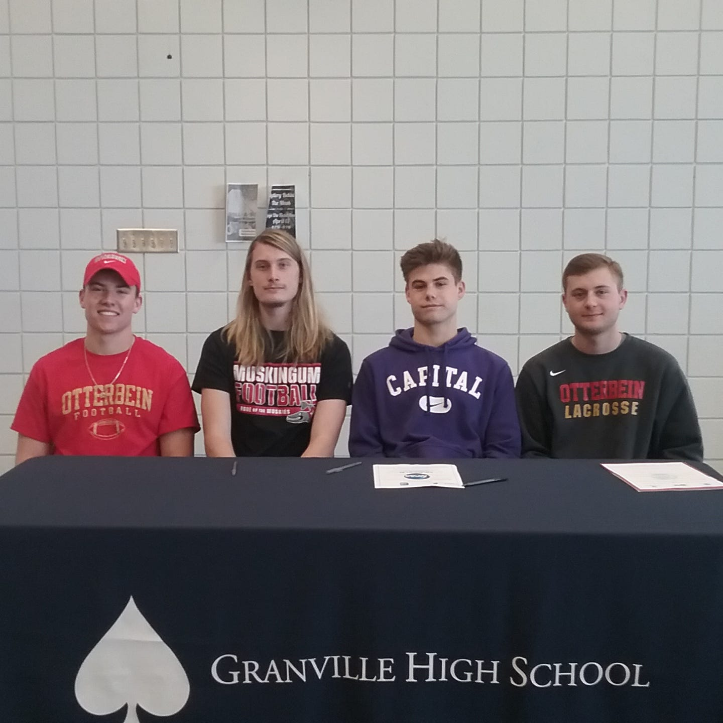 Four Granville seniors set to play college sports