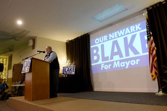 Former Newark mayor Frank Stare, who served as mayor from 1992-2004, remembers Jeremy Blake as a student involved in local government through the Mayor's Youth Council during a kickoff event for Blake's mayoral campaign Thursday at The Grove By the River.