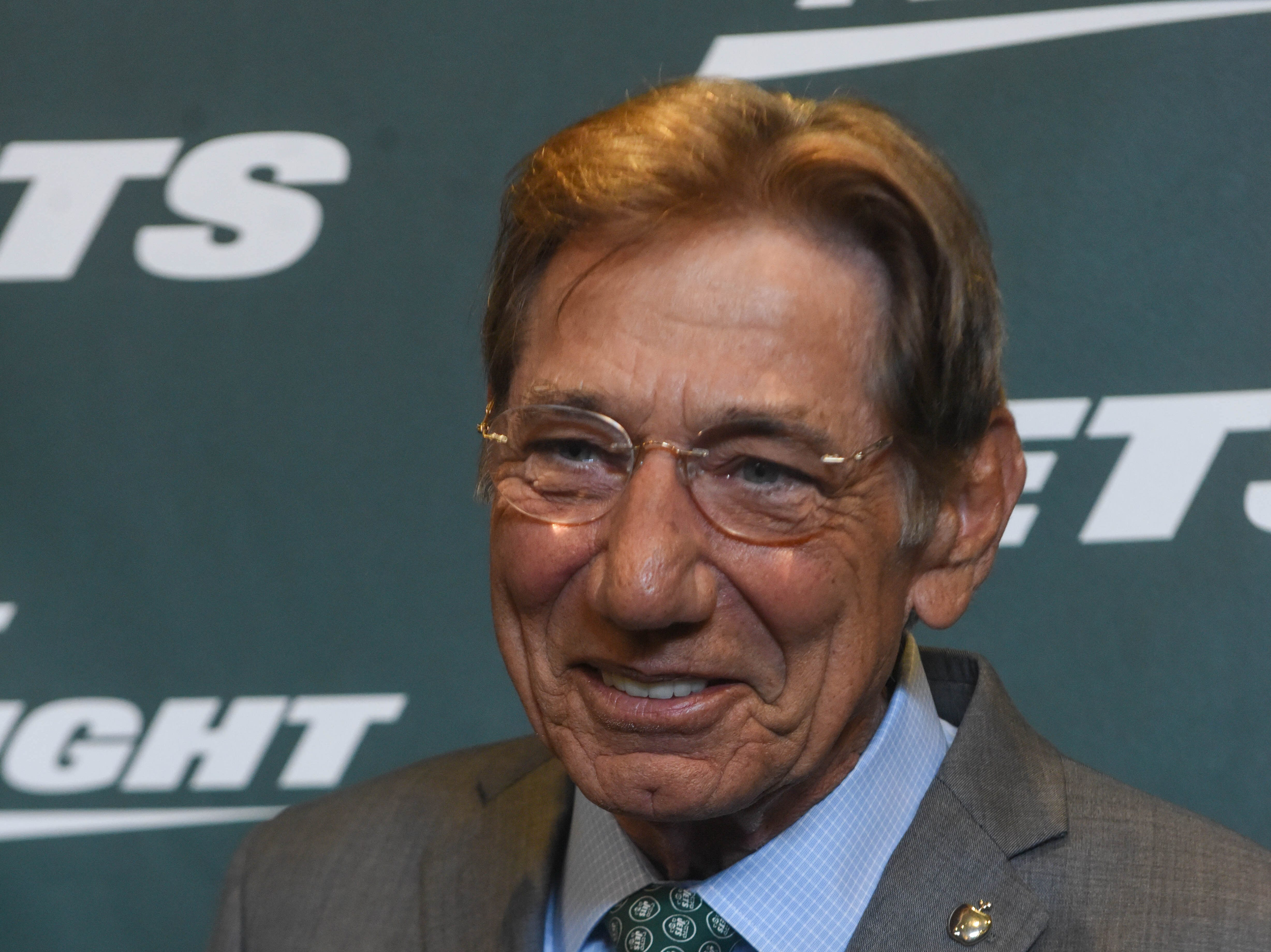 Joe Namath (NY Jets). The NY Jets unveiled their new football uniforms with an event hosted by JB Smoove at Gotham Hall in New York. 04/05/2019