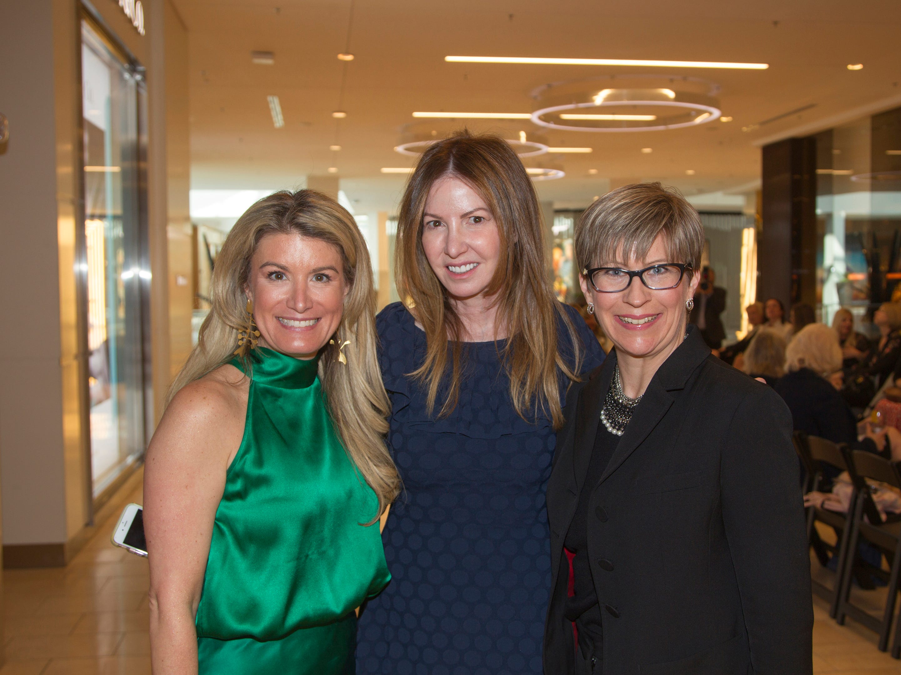 Candace Kristin, Paula Hian, Brooke Lawson. Westfield Garden State Plaza held its Meet the Artist & Trend Show benefitting The Valley Hospital Auxillary Saddle River Branch. 04/03/2019