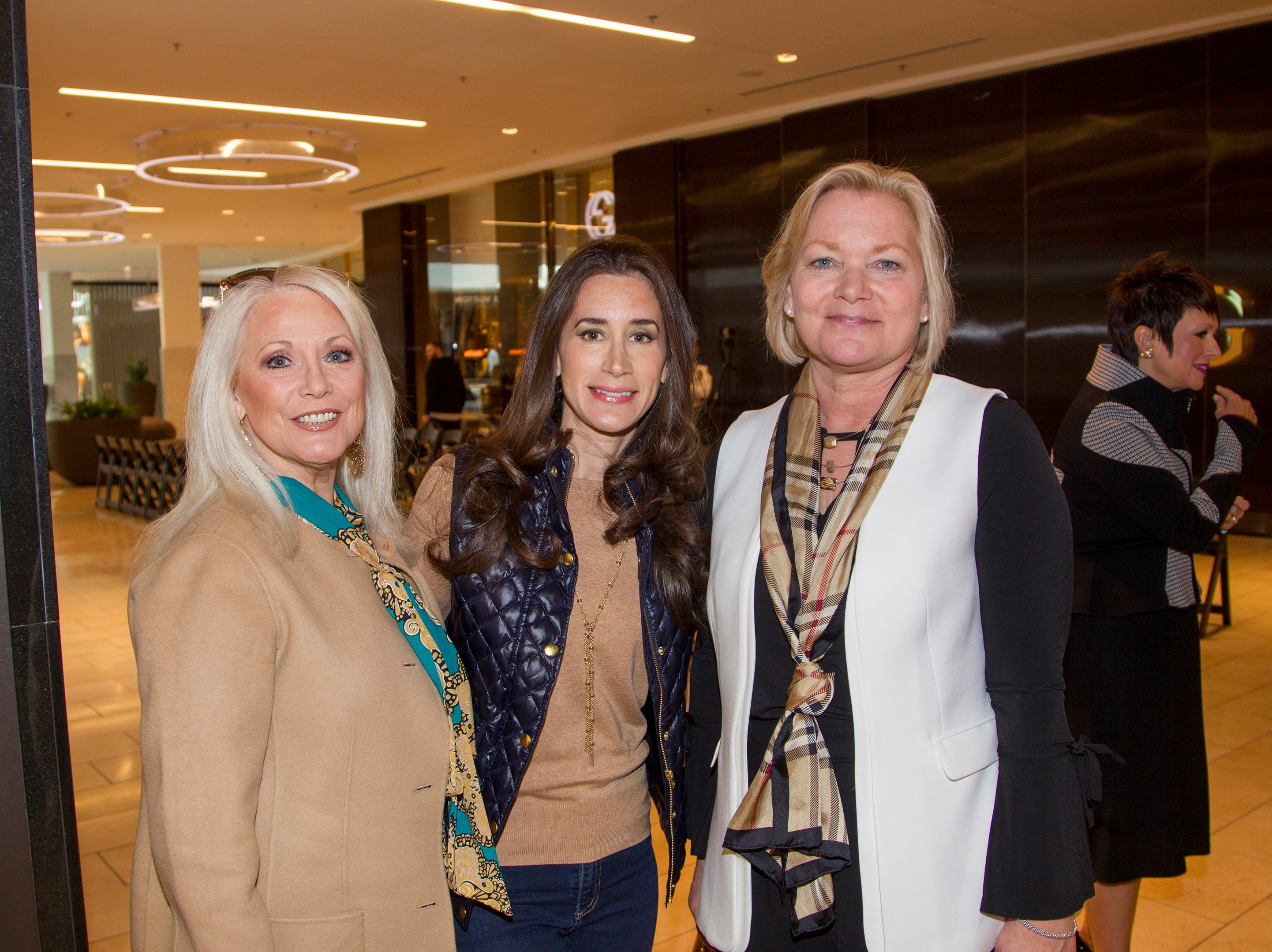 Cathy Tatel, Robyn Stevens, Bobbi Zientek. Westfield Garden State Plaza held its Meet the Artist & Trend Show benefitting The Valley Hospital Auxillary Saddle River Branch. 04/03/2019