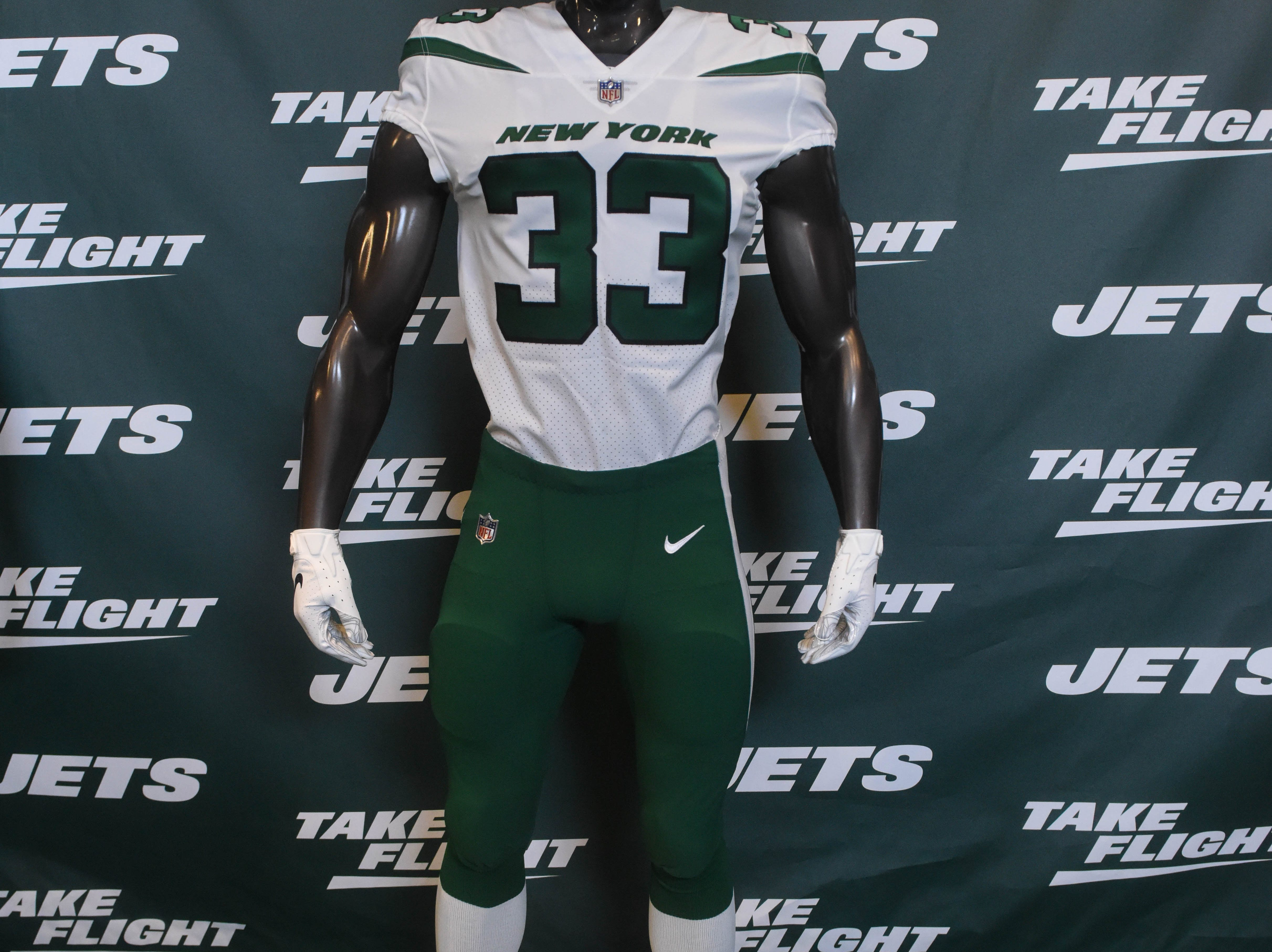 The new Jets uniforms. The NY Jets unveiled their new football uniforms with an event hosted by JB Smoove at Gotham Hall in New York. 04/05/2019