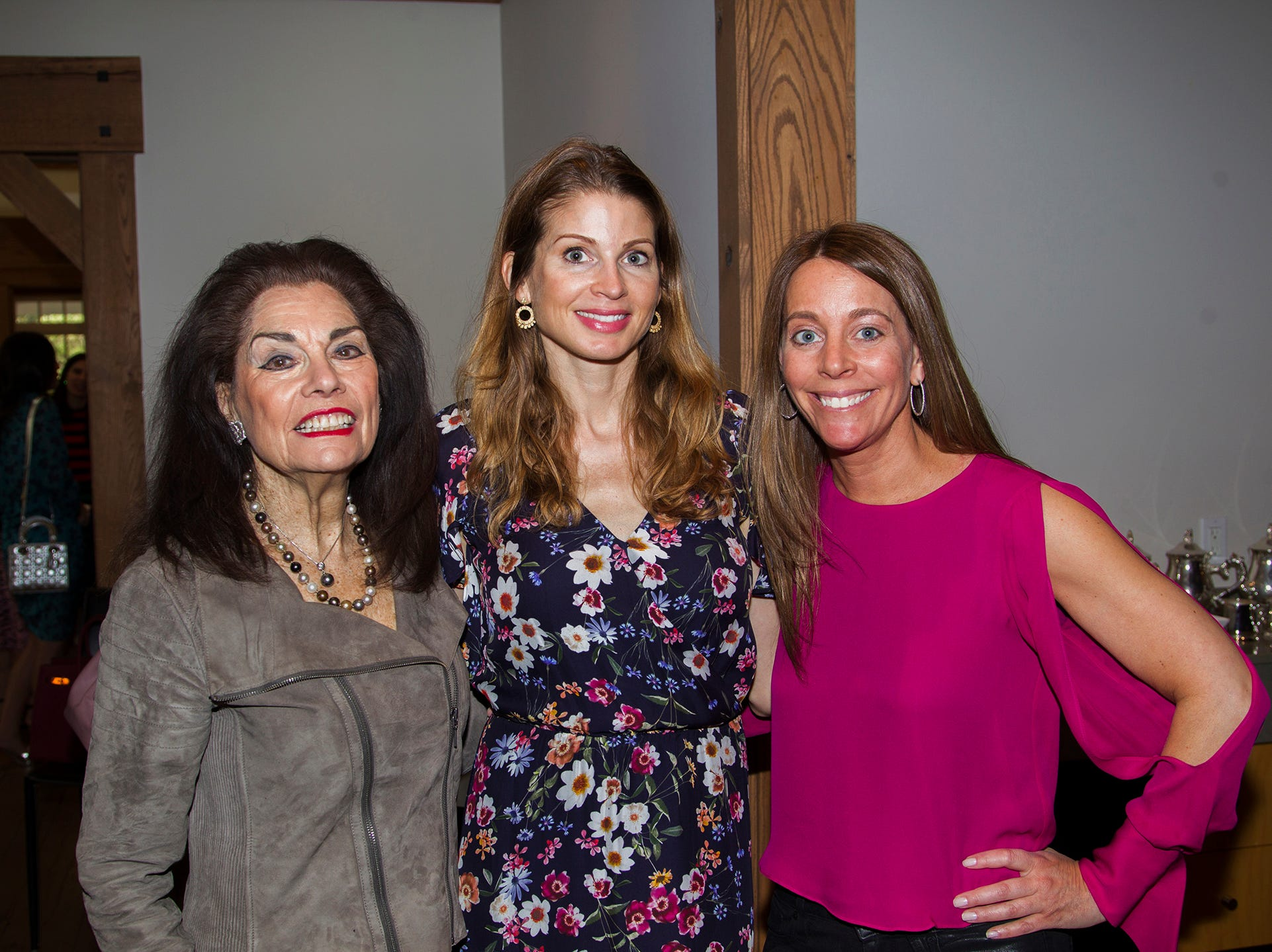 Norma Wellington, Jen Maxfield, Laurie Kaiden. Kaplen JCC on the Palisades held its annual Lavish Lunches for Seniors in our Community. 04/04/2019