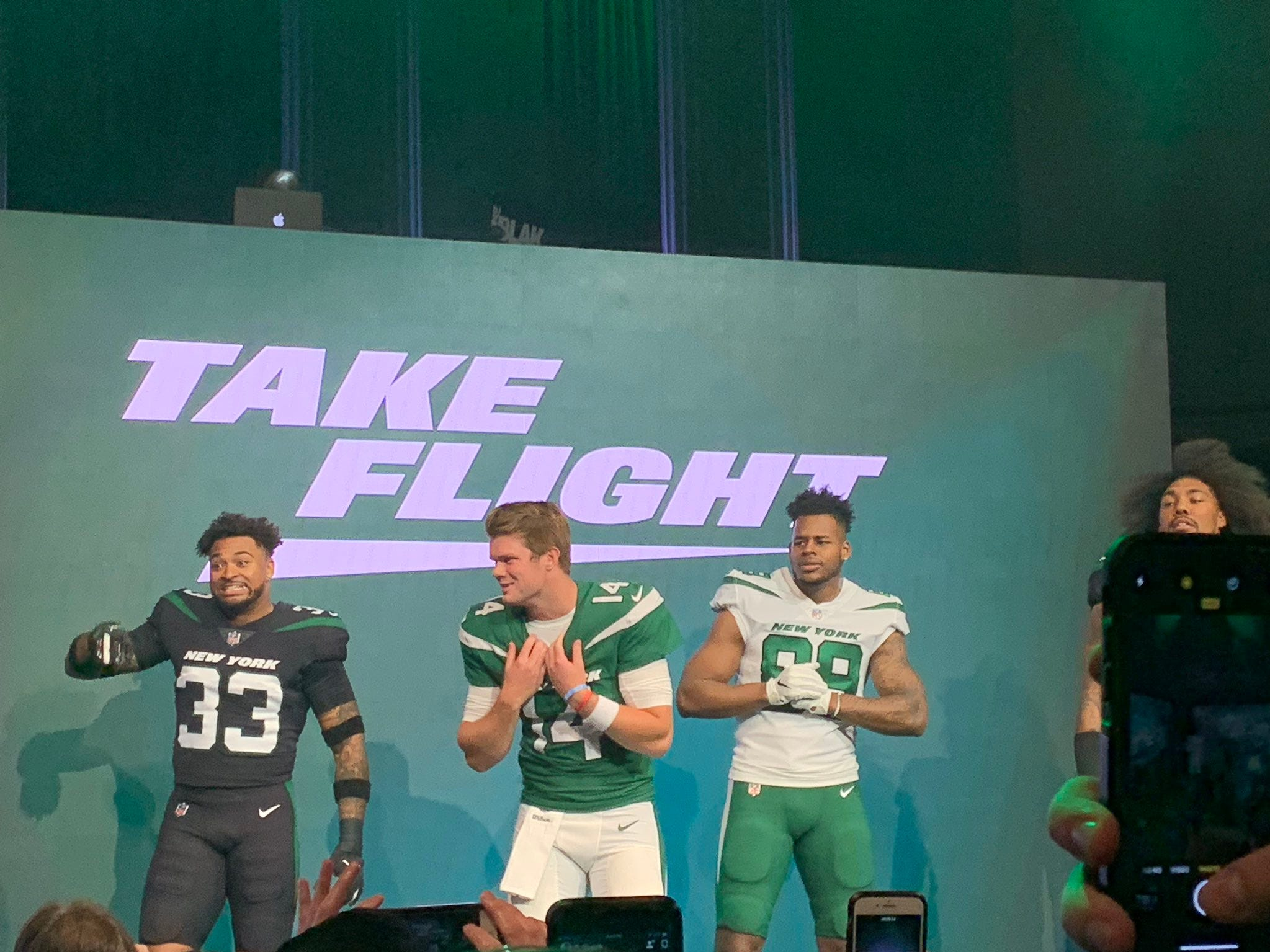 The New York Jets unveiled the team's new uniforms on Thursday, April 4, 2019.