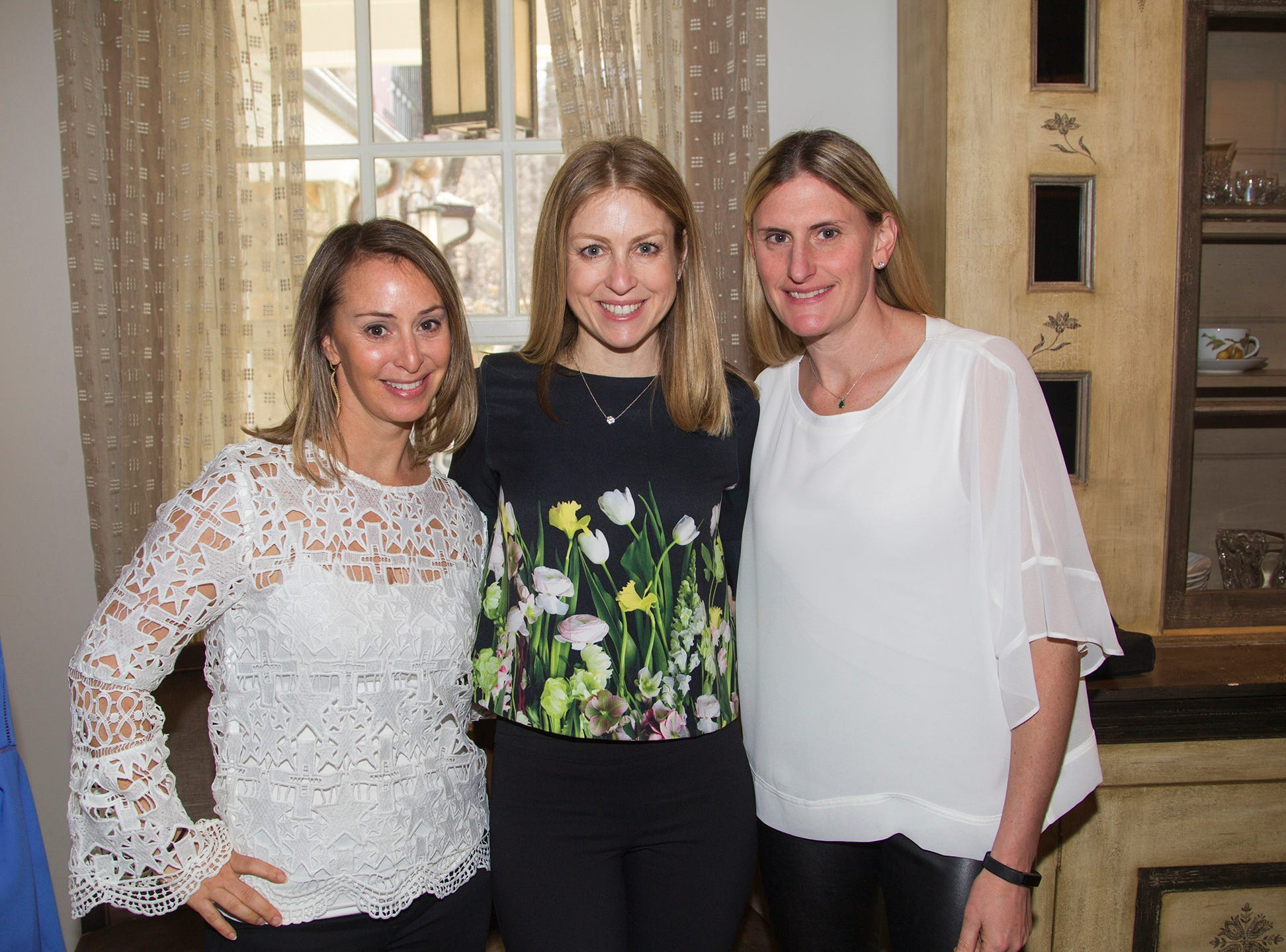 Rebecca Arnofsky, Brandi Rubin, Becky Canarick. Kaplen JCC on the Palisades held its annual Lavish Lunches for Seniors in our Community. 04/04/2019