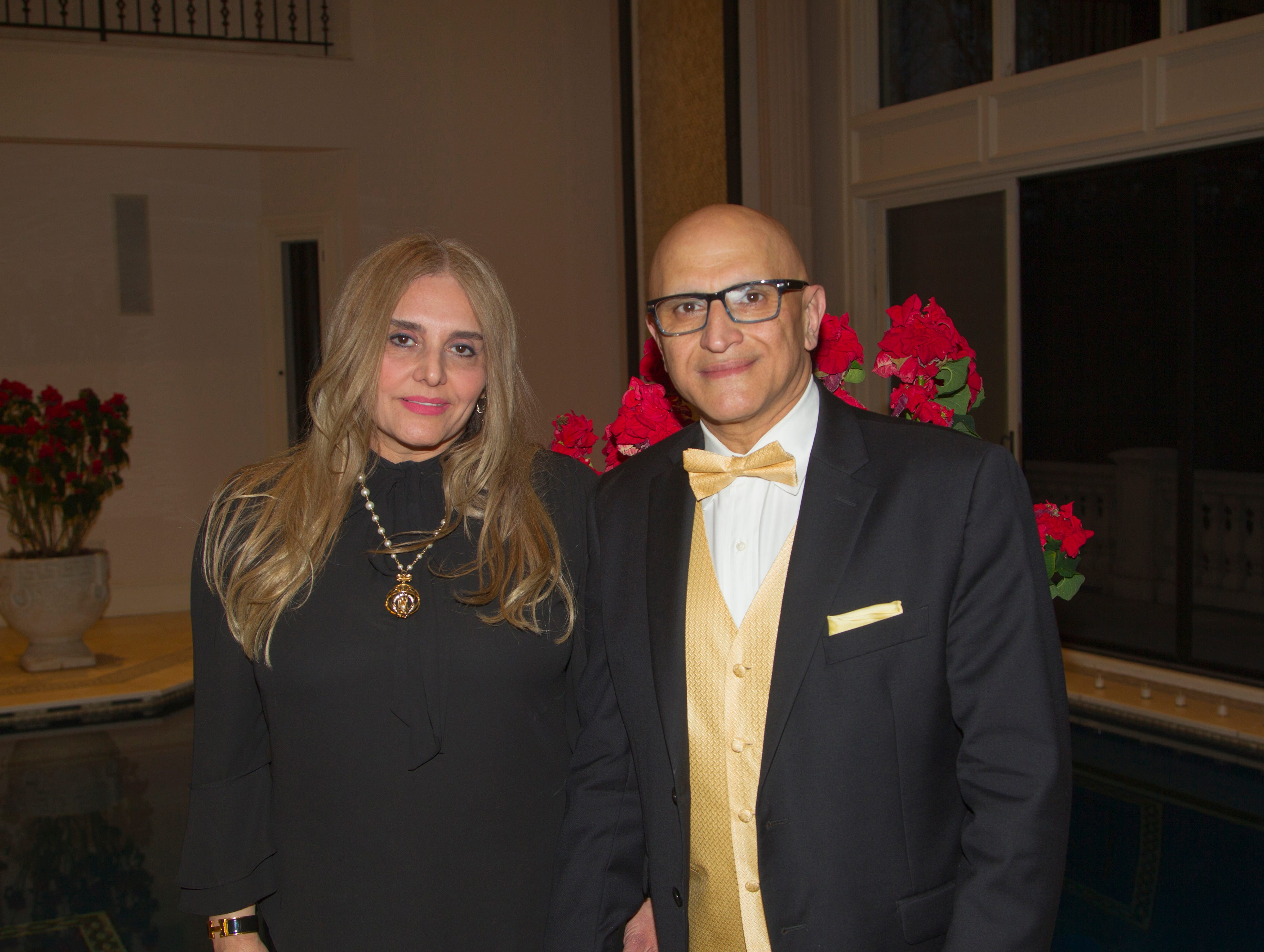 Brooke and Fred Rezvani. Saddle River Arts Council presents An Evening of Giving Back featureing Eric Genuis in Saddle River. 03/30/2019