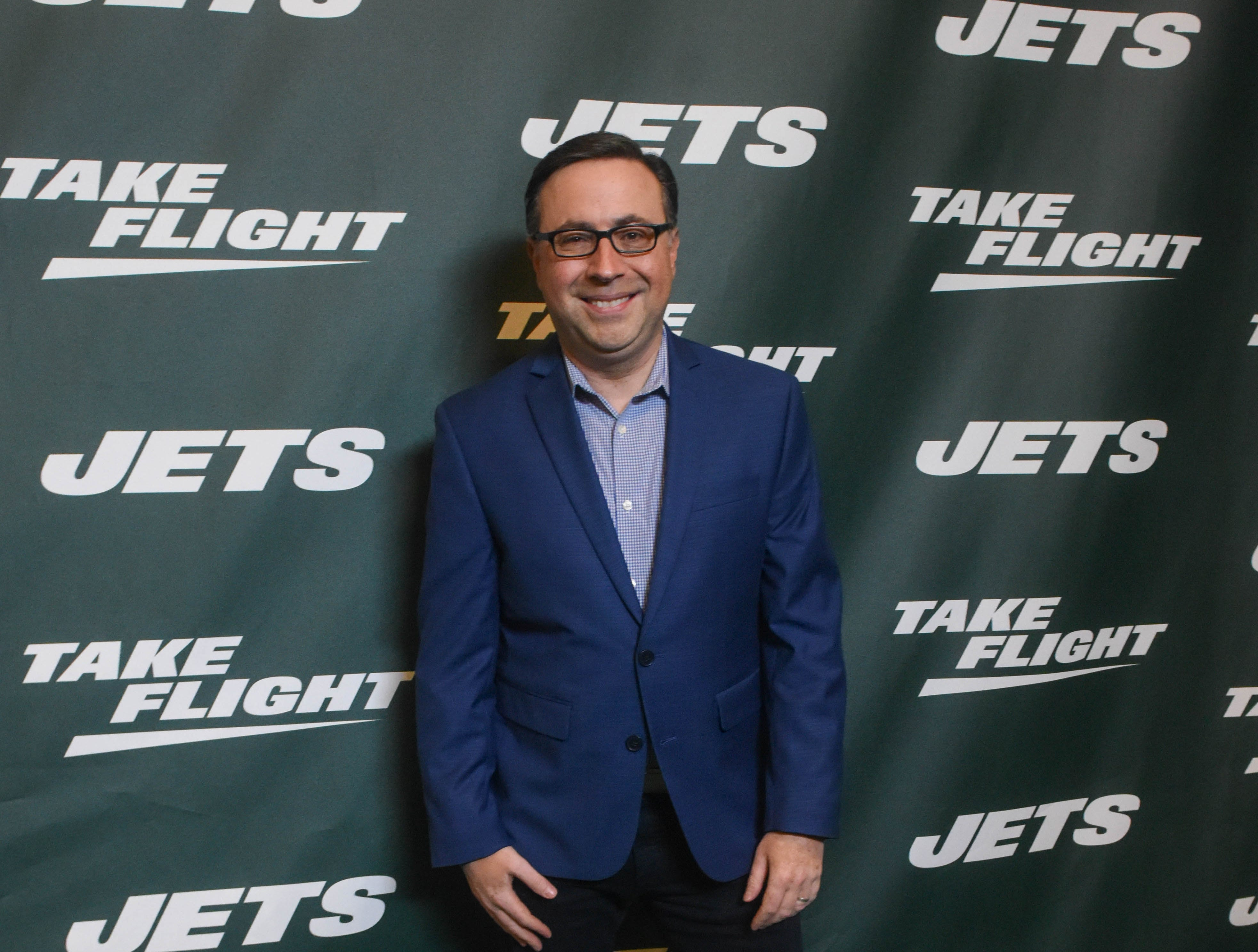 Ian Eagle. The NY Jets unveiled their new football uniforms with an event hosted by JB Smoove at Gotham Hall in New York. 04/05/2019