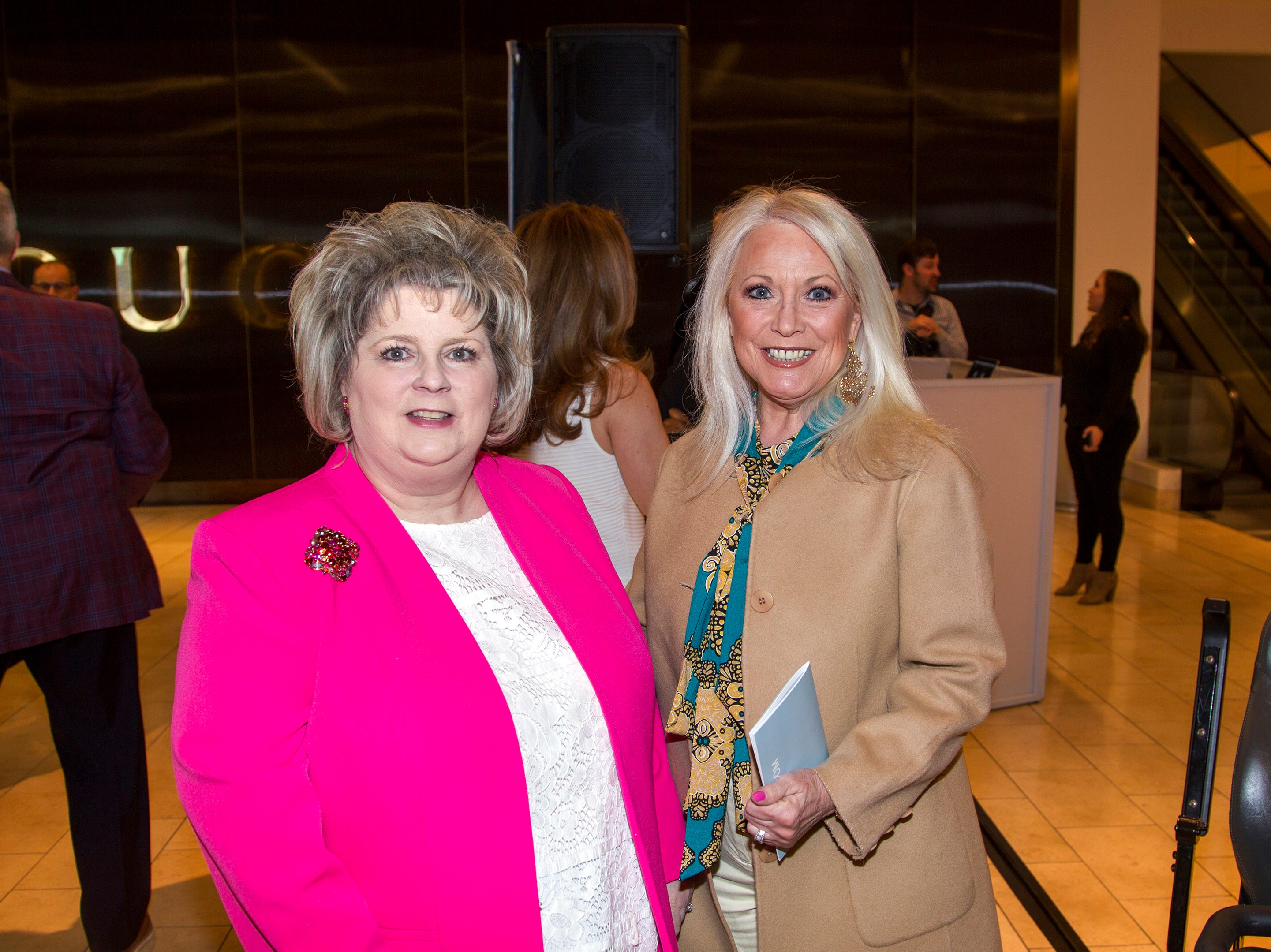 Linda Webster Cennerazzo, Cathy tatel. Westfield Garden State Plaza held its Meet the Artist & Trend Show benefitting The Valley Hospital Auxillary Saddle River Branch. 04/03/2019