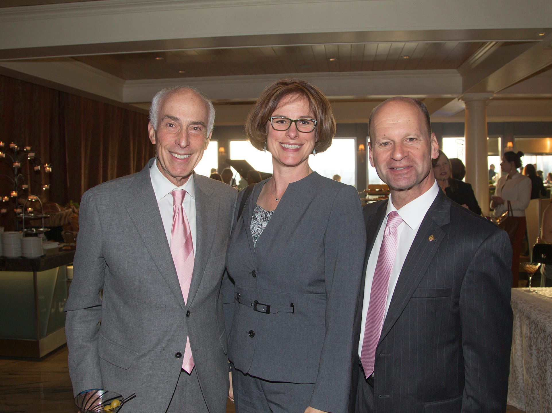 Larry Fechner, Alisa Vual, Rick Gorab. Girl Scouts of Northern New Jersey held its Women of Achievement 2019 at Westmount Country Club in Woodland Park. 04/04/2019
