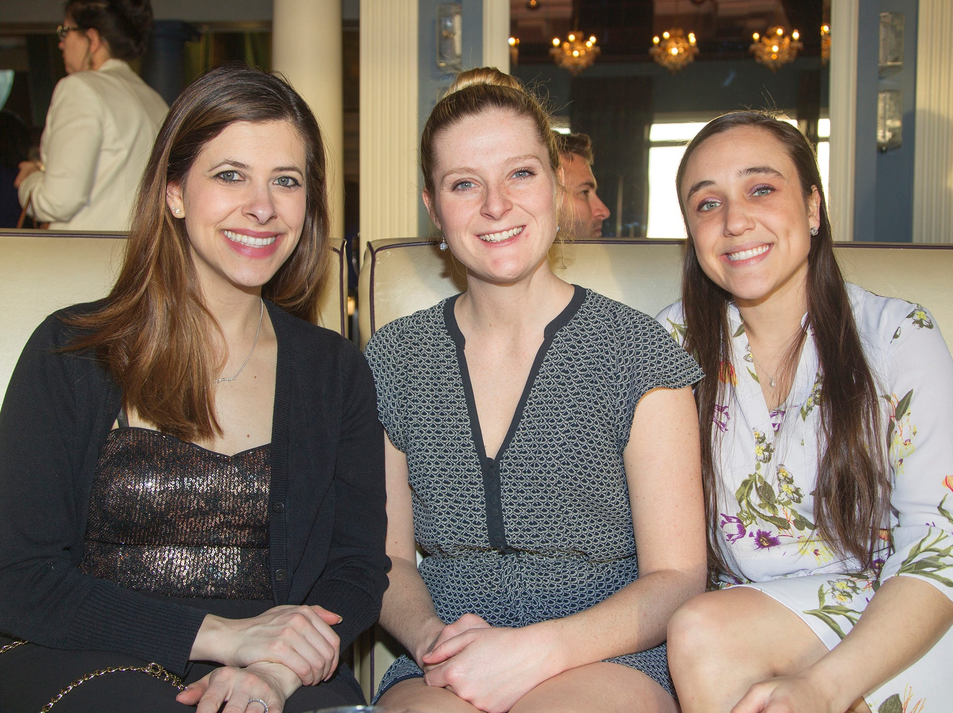 Natalie Grillett, Megan Soutis, Stephanie Sass. Girl Scouts of Northern New Jersey held its Women of Achievement 2019 at Westmount Country Club in Woodland Park. 04/04/2019