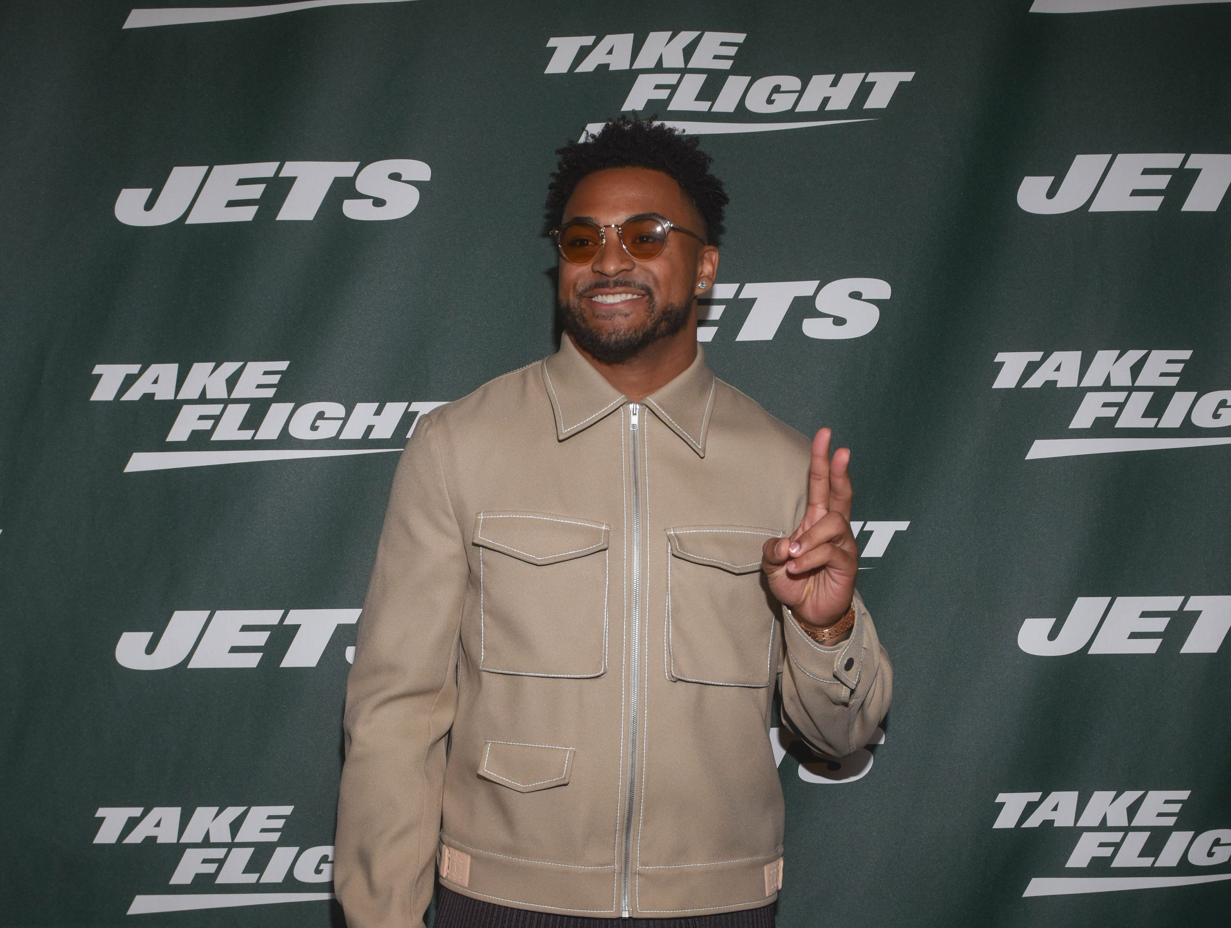 Jamal Adams (NY Jets). The NY Jets unveiled their new football uniforms with an event hosted by JB Smoove at Gotham Hall in New York. 04/05/2019