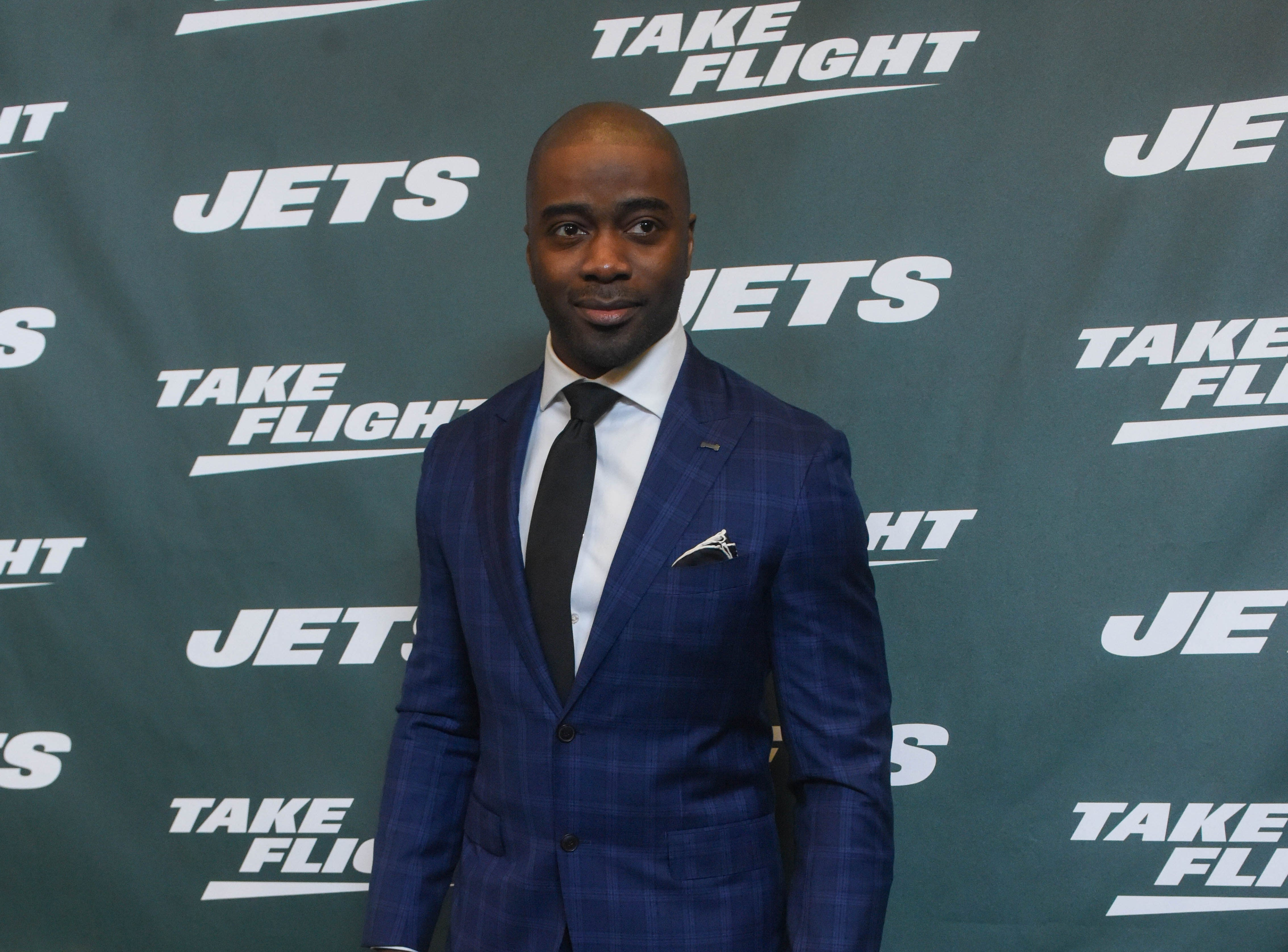 Curtis Martin (NY Jets). The NY Jets unveiled their new football uniforms with an event hosted by JB Smoove at Gotham Hall in New York. 04/05/2019