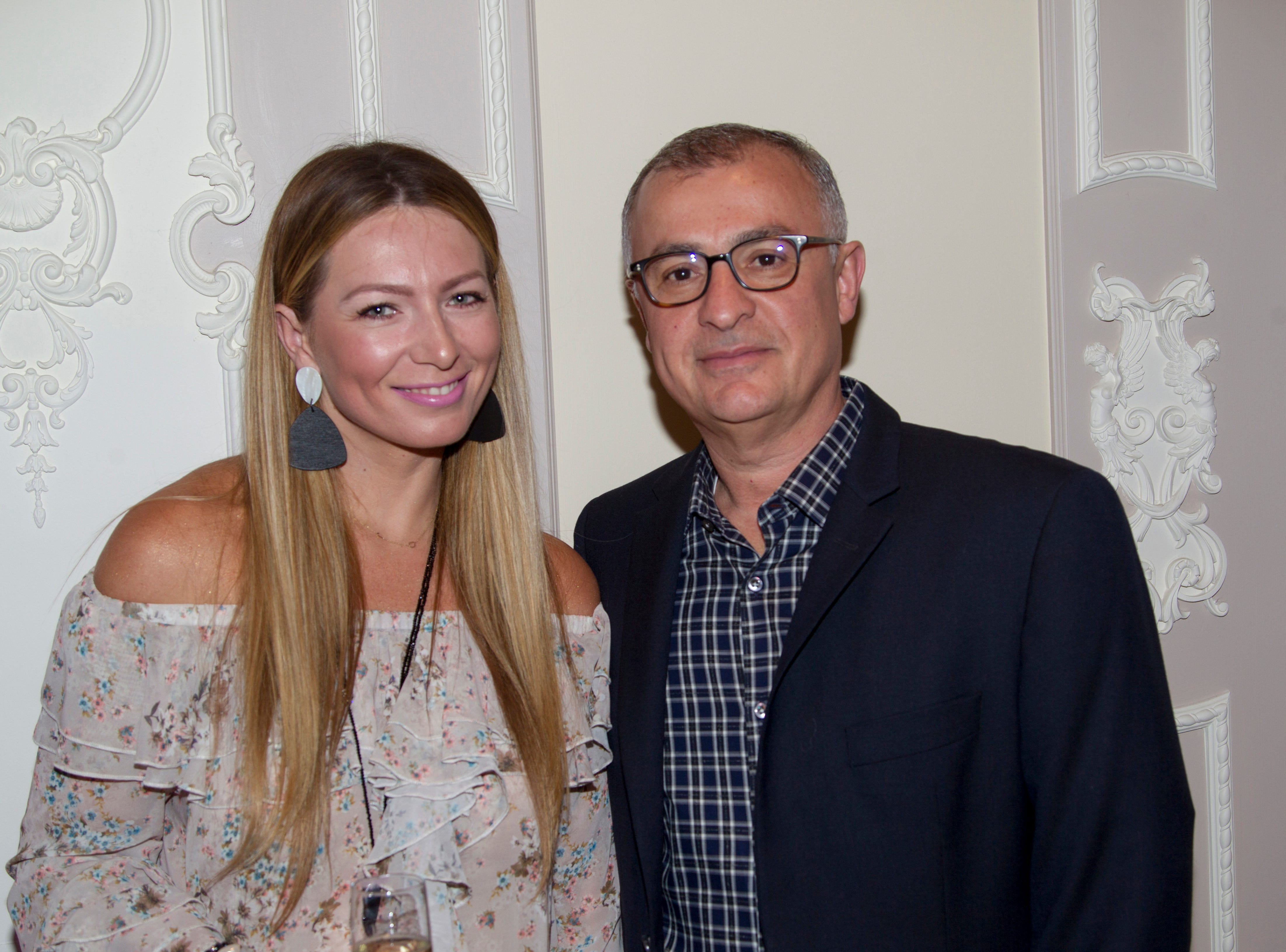 Justyna and Cabbad Kaminska. Saddle River Arts Council presents An Evening of Giving Back featureing Eric Genuis in Saddle River. 03/30/2019