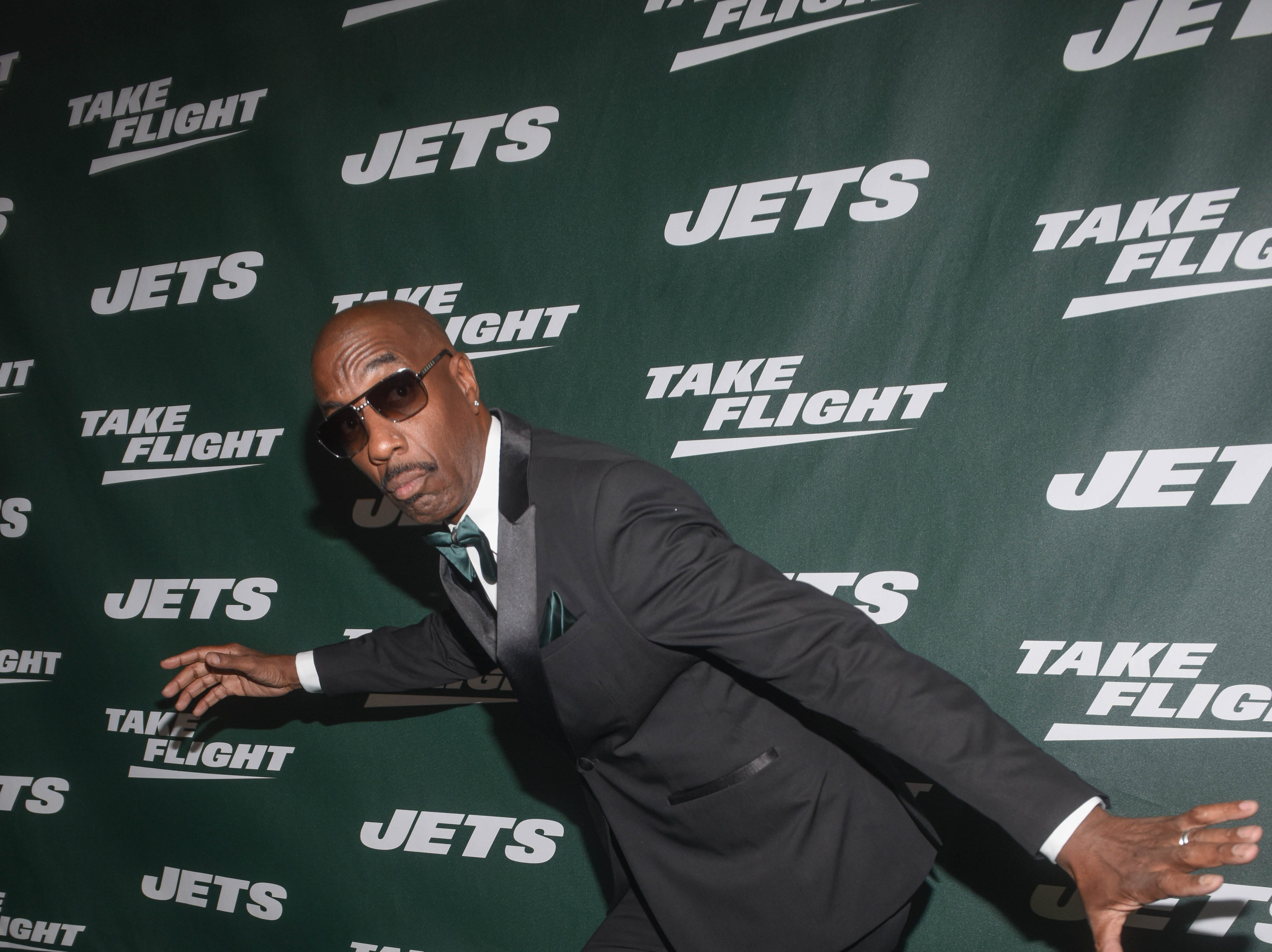 J. B. Smoove (Comedian/Event Host). The NY Jets unveiled their new football uniforms with an event hosted by JB Smoove at Gotham Hall in New York. 04/05/2019