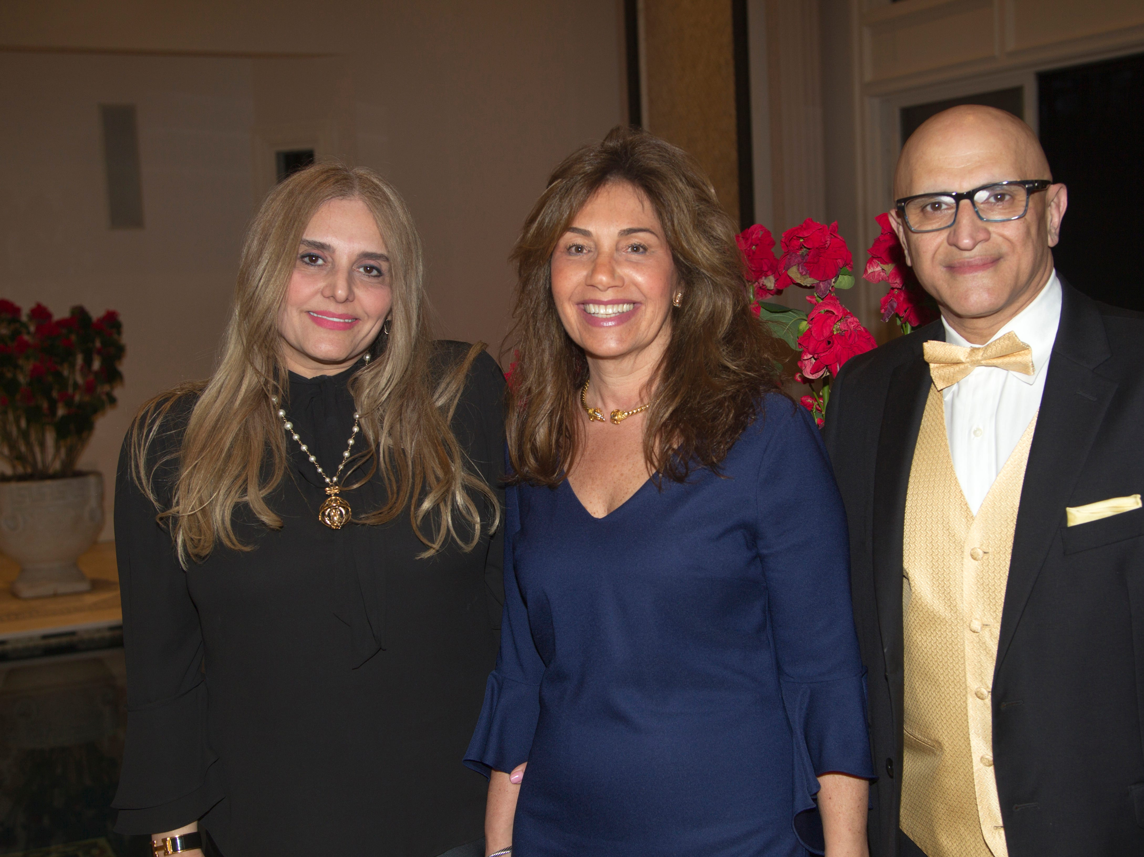 Brooke Rezvani, Alissa Blate, Fred Rezvani. Saddle River Arts Council presents An Evening of Giving Back featureing Eric Genuis in Saddle River. 03/30/2019