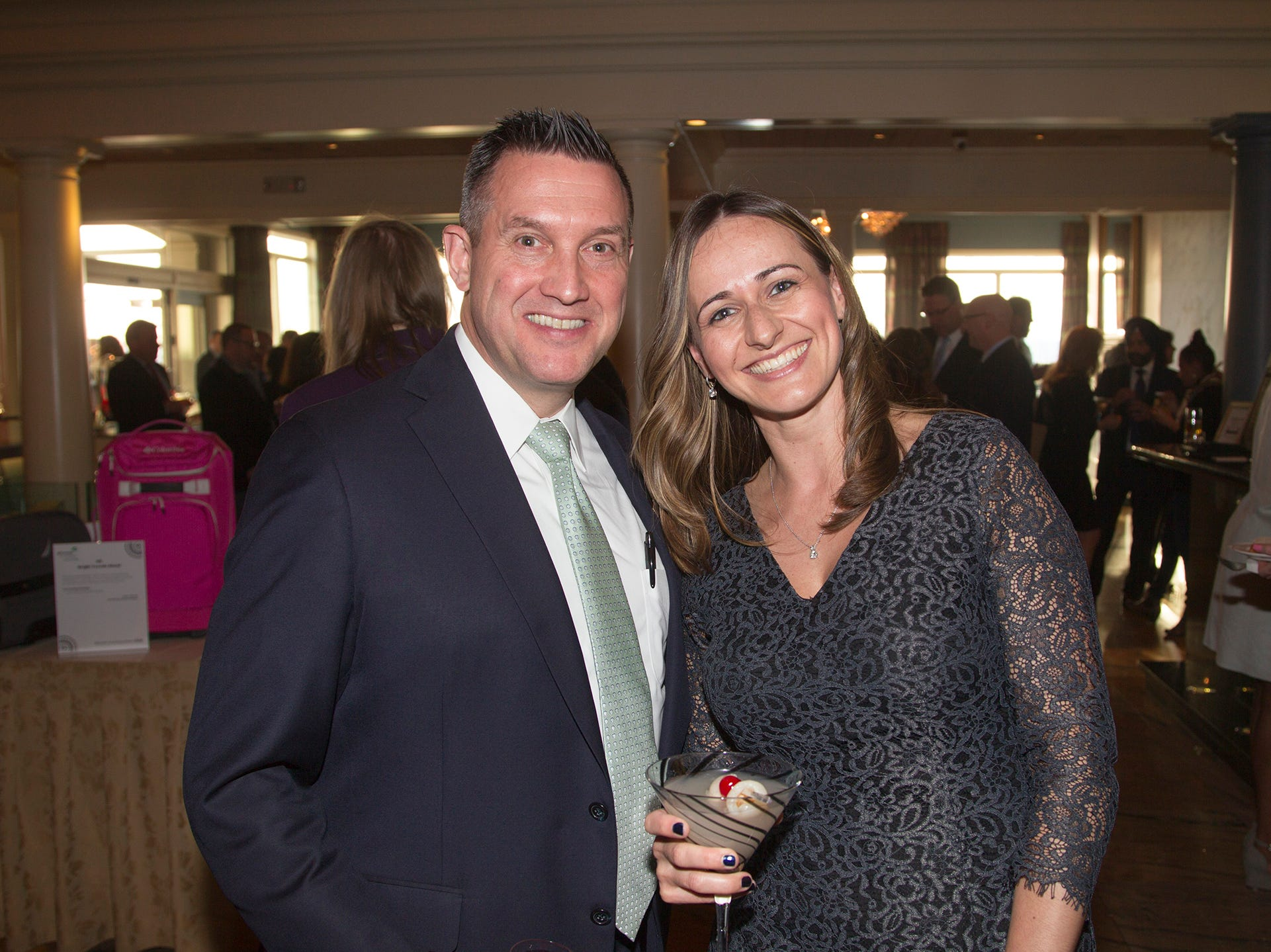 Jim Schlag, Marta Jankowski. Girl Scouts of Northern New Jersey held its Women of Achievement 2019 at Westmount Country Club in Woodland Park. 04/04/2019
