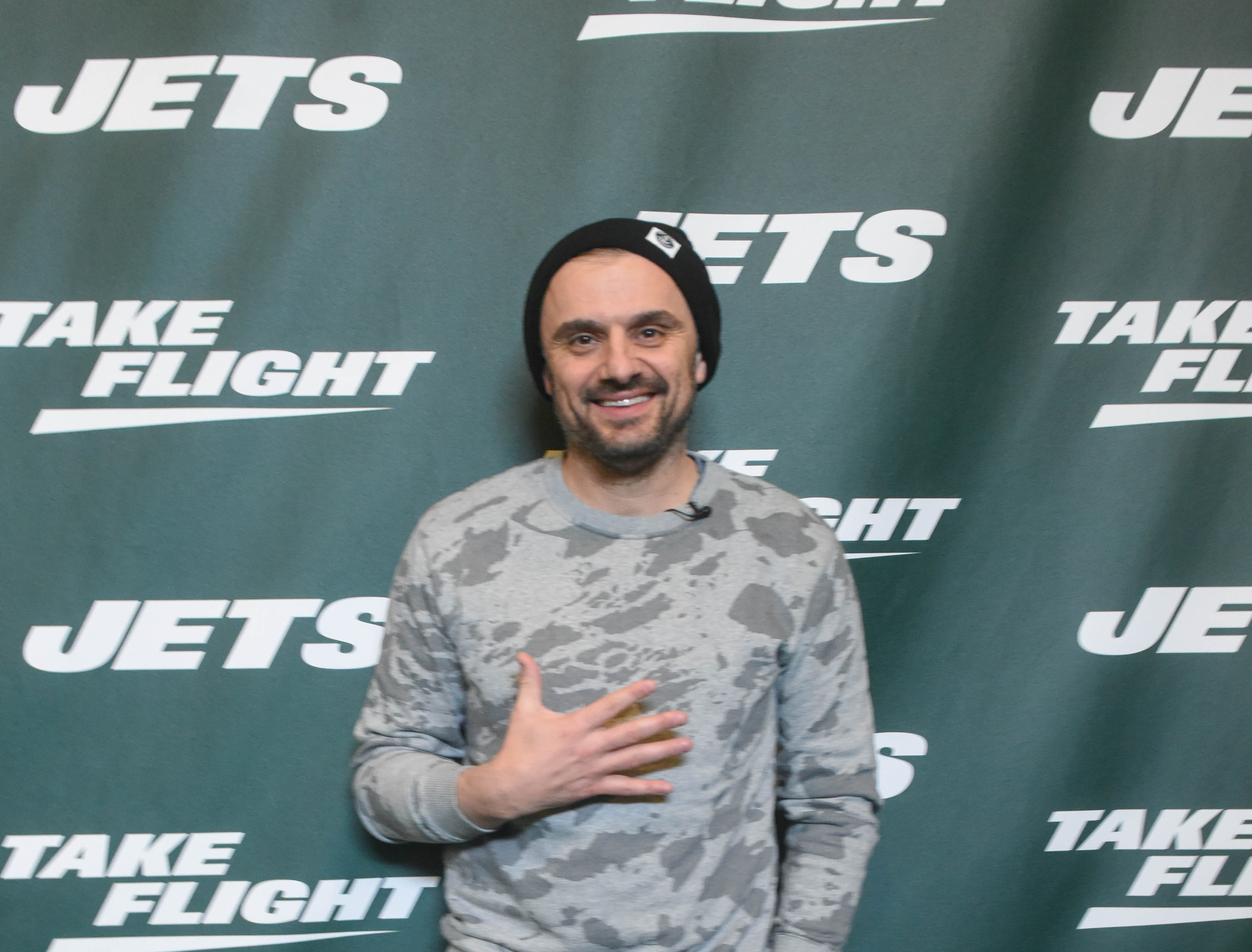 Gary Vaynerchuk. The NY Jets unveiled their new football uniforms with an event hosted by JB Smoove at Gotham Hall in New York. 04/05/2019