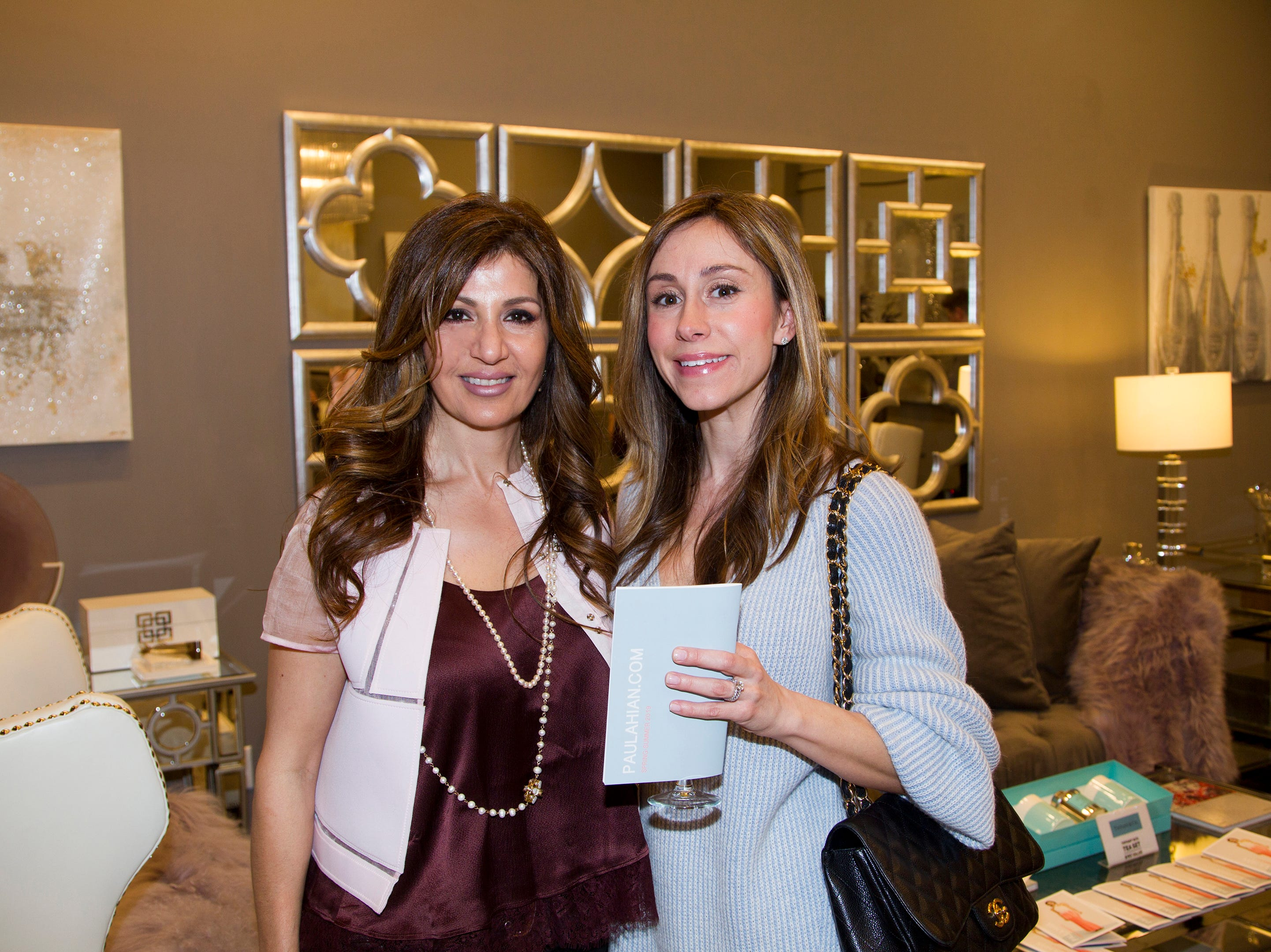 Susan Koushagjian, Nancy Cacciola. Westfield Garden State Plaza held its Meet the Artist & Trend Show benefitting The Valley Hospital Auxillary Saddle River Branch. 04/03/2019
