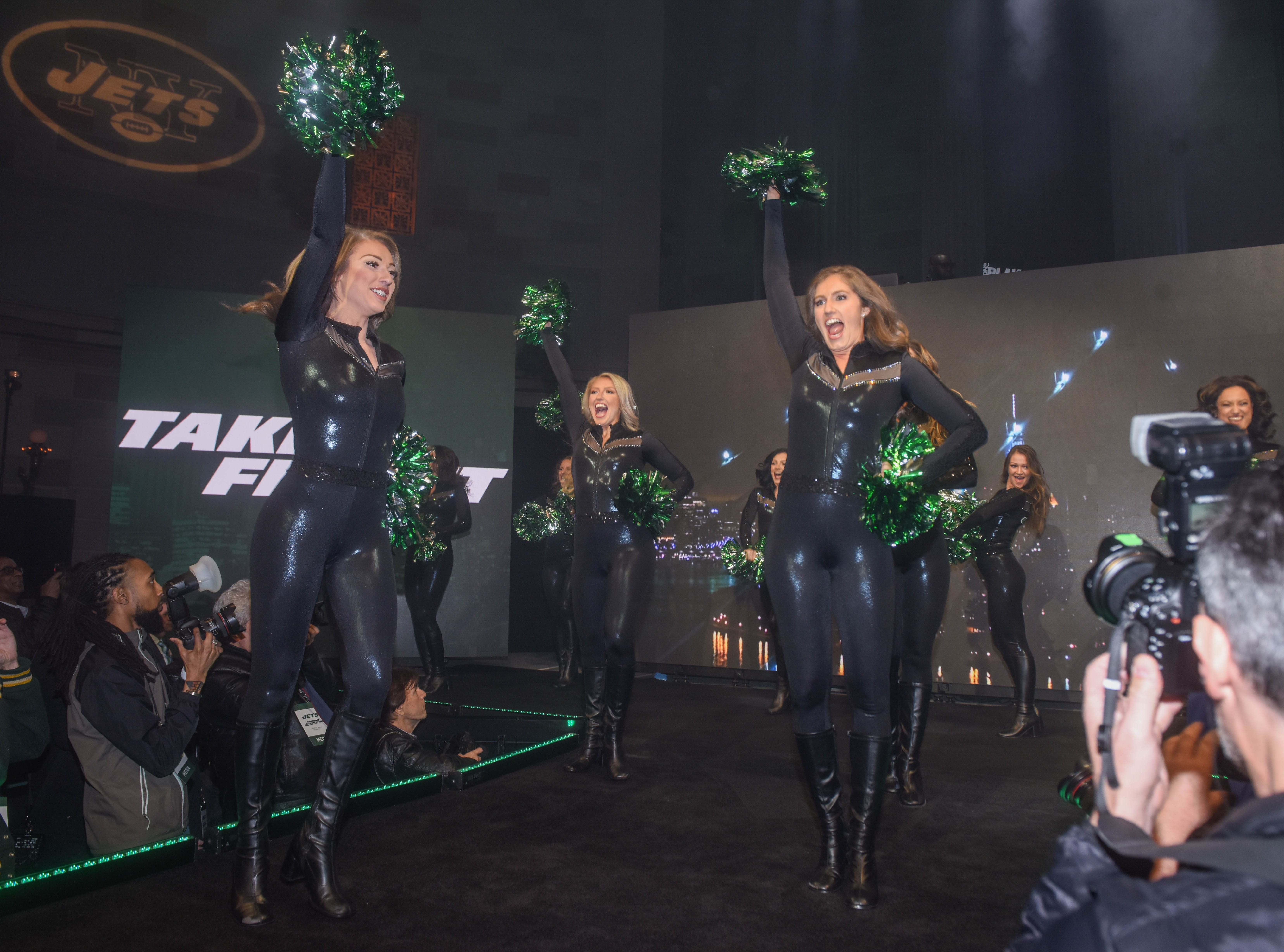 Jets Flight Crew. The NY Jets unveiled their new football uniforms with an event hosted by JB Smoove at Gotham Hall in New York. 04/05/2019