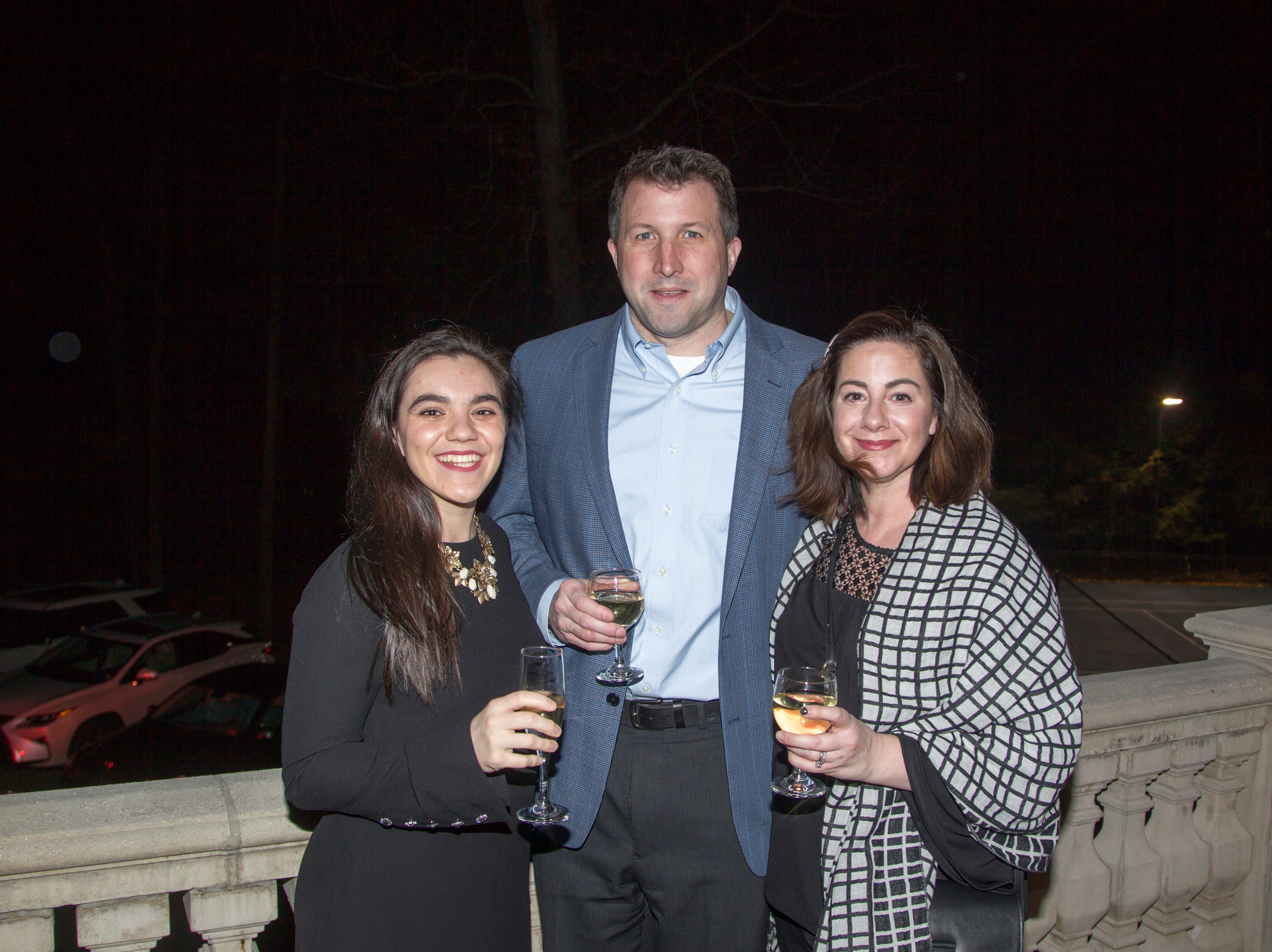 Vanessa Woode, Jeff Mann, Anne Mary Mann. Saddle River Arts Council presents An Evening of Giving Back featureing Eric Genuis in Saddle River. 03/30/2019